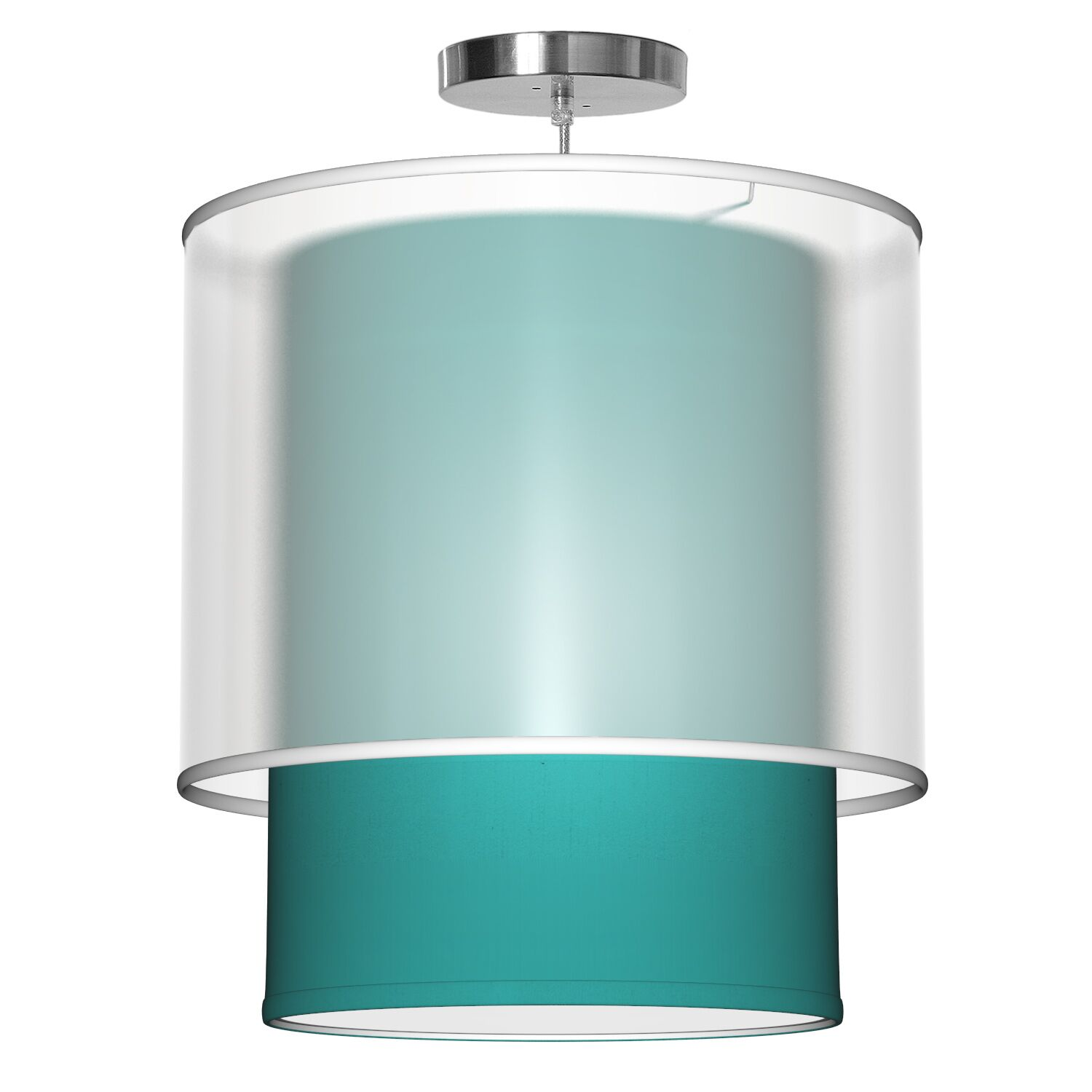 Lumiere 1-Light Pendant Shade Color: Turquoise, Size: 18