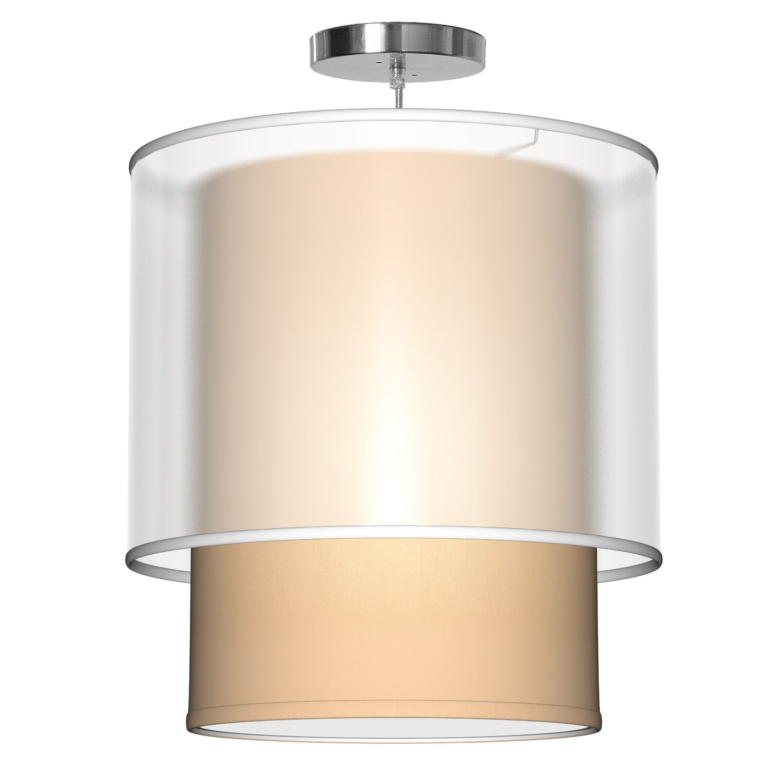 Lumiere 1-Light Pendant Shade Color: Champagne, Size: 32