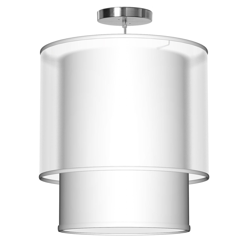 Lumiere 1-Light Pendant Shade Color: White, Size: 32