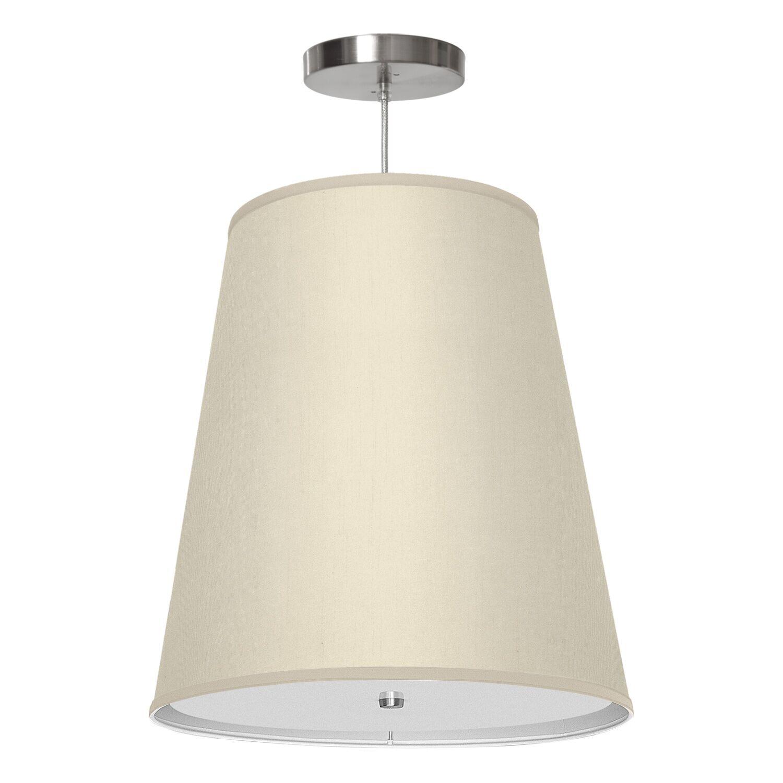Zak 1-Light Pendant Shade Color: Cream, Size: 20
