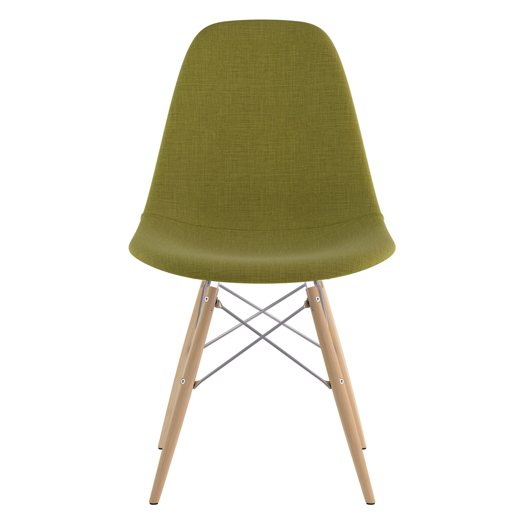 Dowel Side Chair Upholstery Color: Avocado Green, Finish: Natural