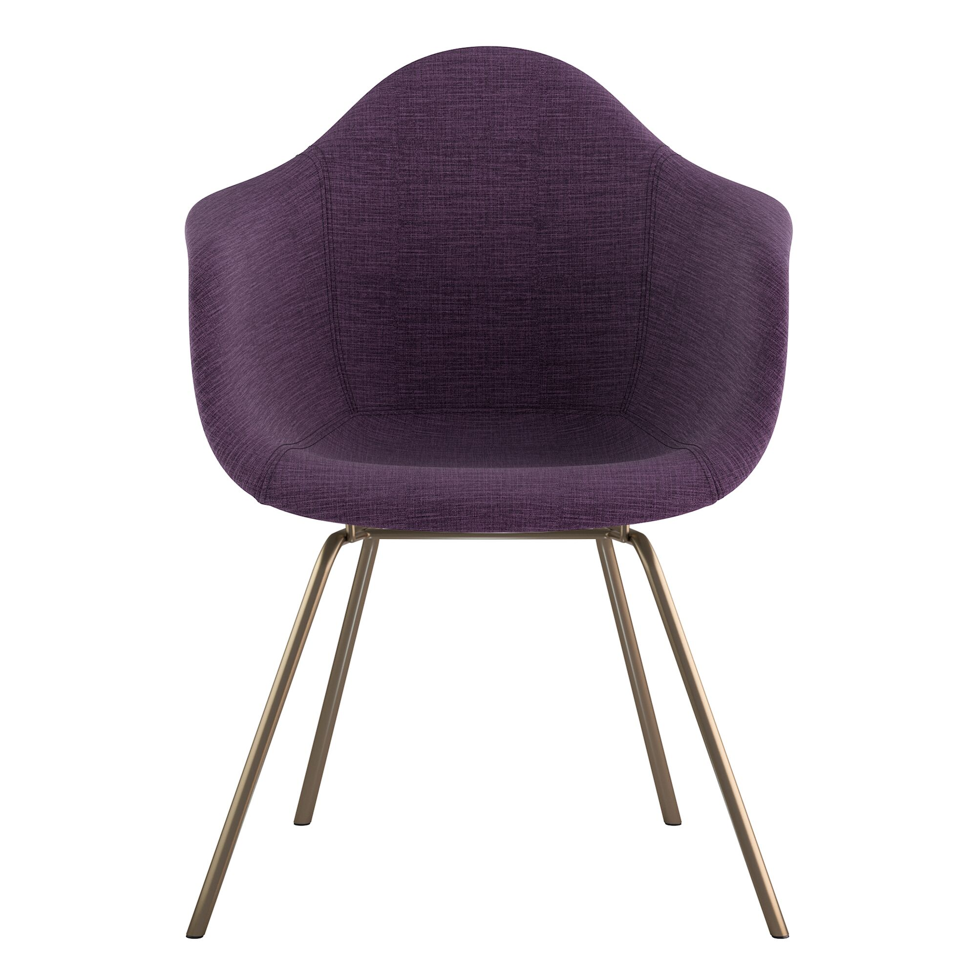 Classroom Arm Chair Upholstery Color: Plum Purple, Finish: Brass