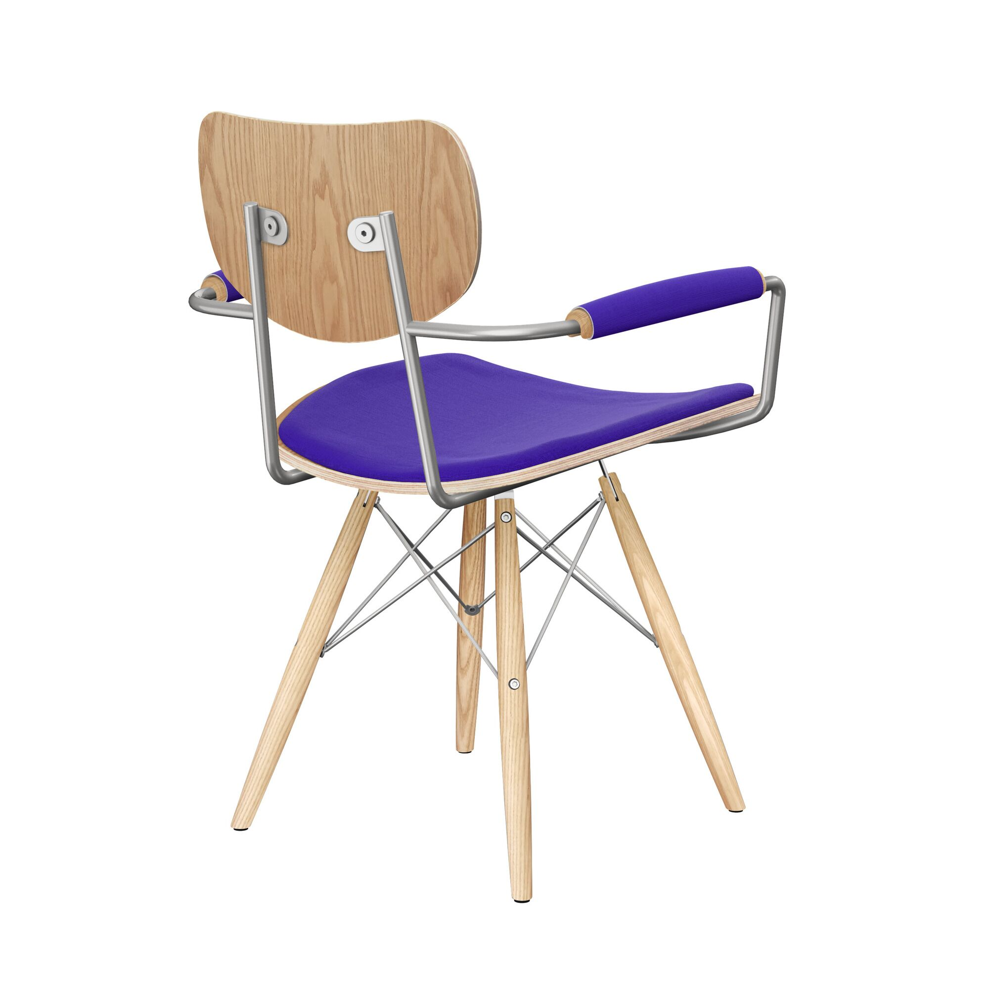Bastow Upholstered Dining Chair Upholstery Color: Vibrant Purple, Leg Color: Natural, Frame Color: Natural