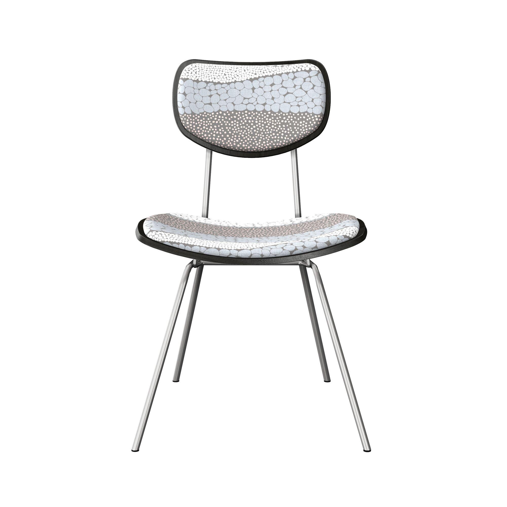 Coggrey Upholstered Dining Chair Frame Color: Black, Leg Color: Chrome