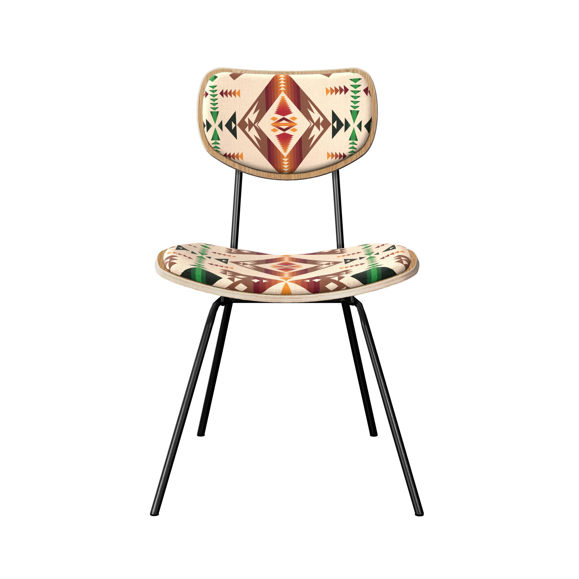 Champlin Upholstered Dining Chair Leg Color: Black, Frame Color: Natural