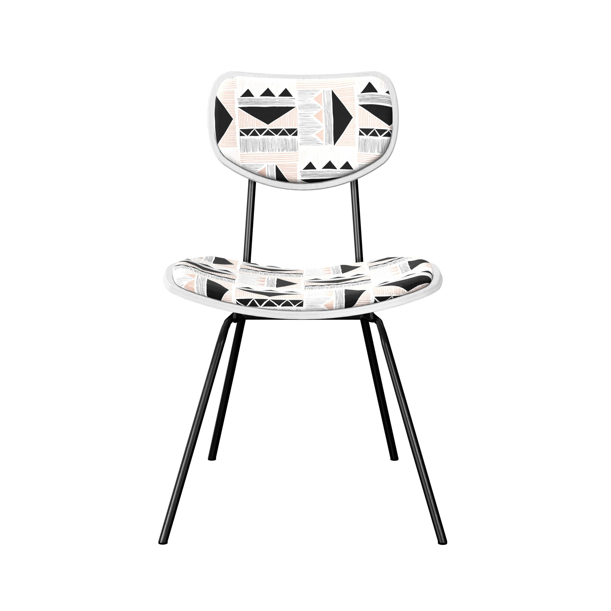 Dodington Upholstered Dining Chair Leg Color: Black, Frame Color: White