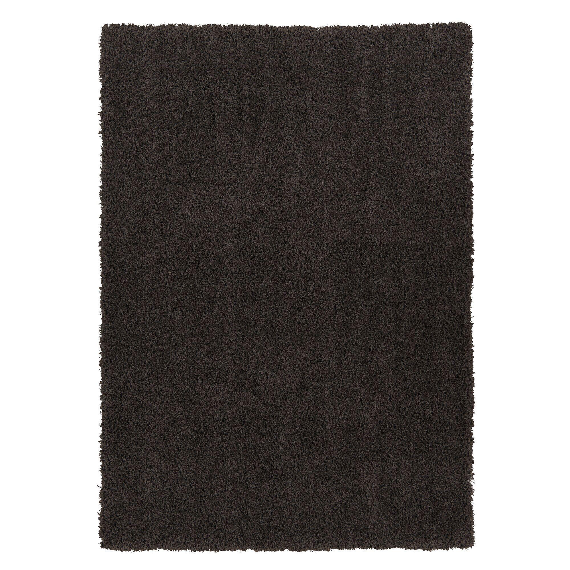 Cozy Shag Machine Woven Mat Color: Charcoal Grey