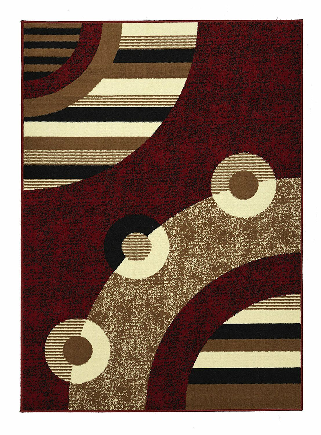 Clifton Red Area Rug Rug Size: 7'10