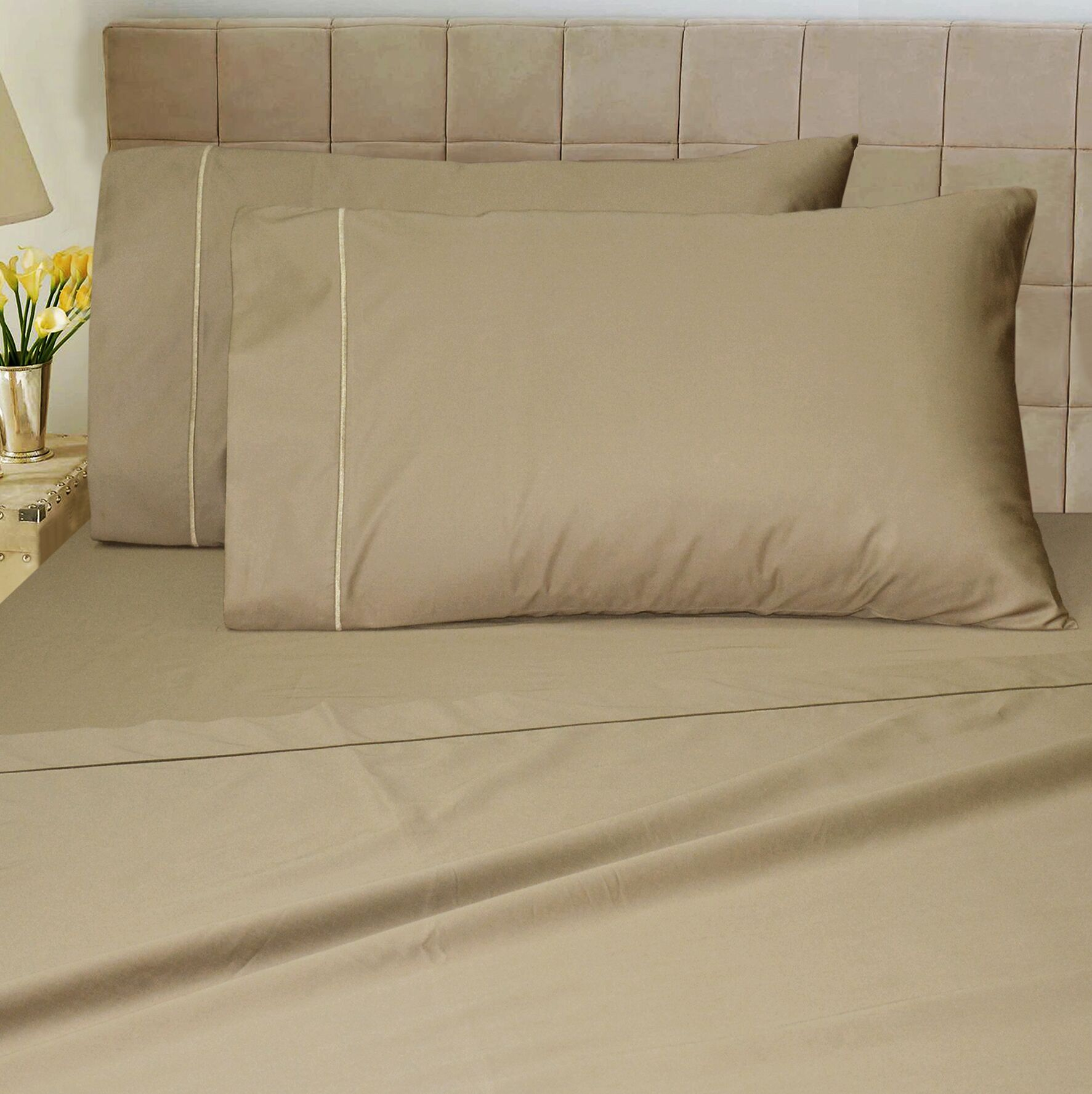1200 Thread Count Sheet Set Color: Taupe, Size: King