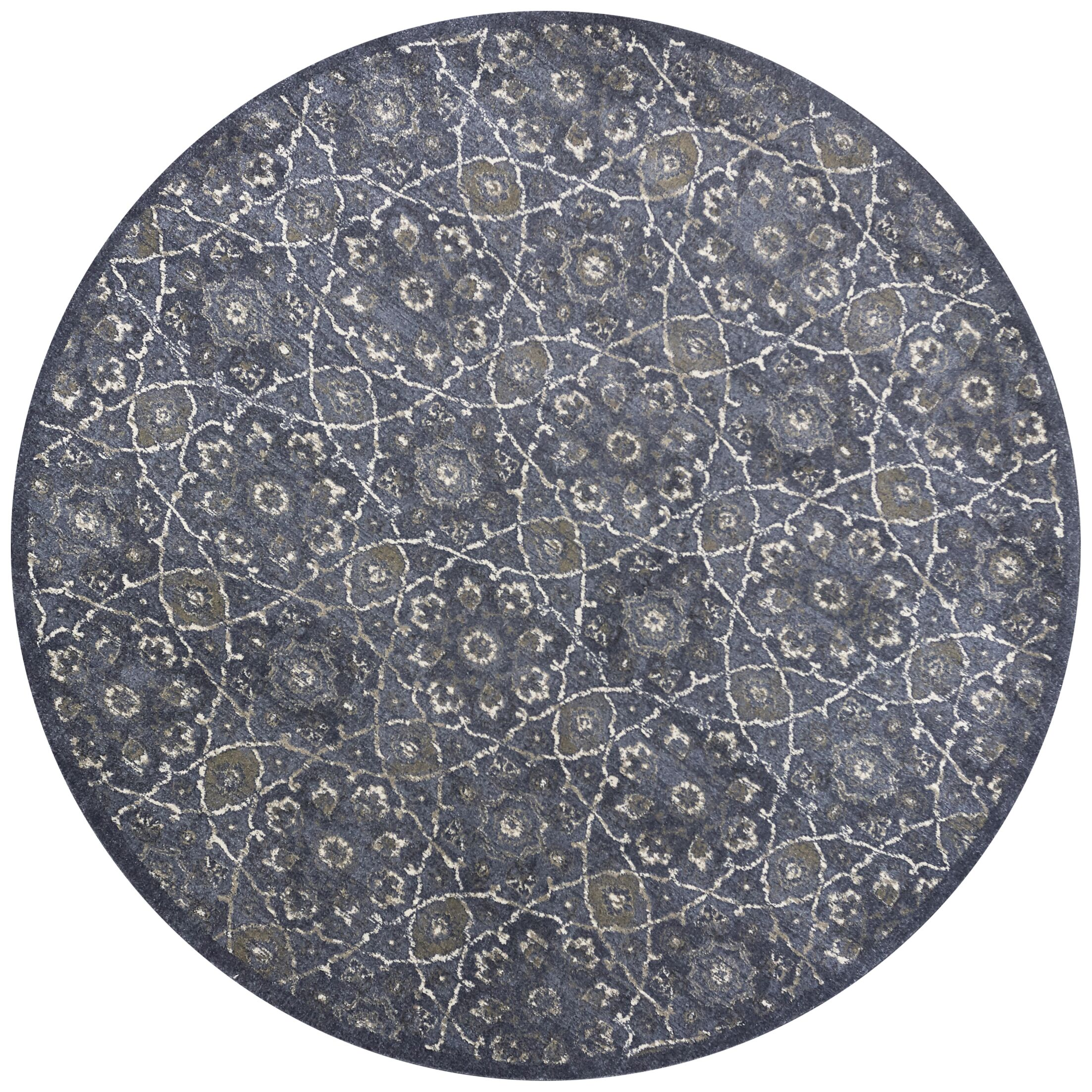 Holder Denim Area Rug Rug Size: Round 7'7
