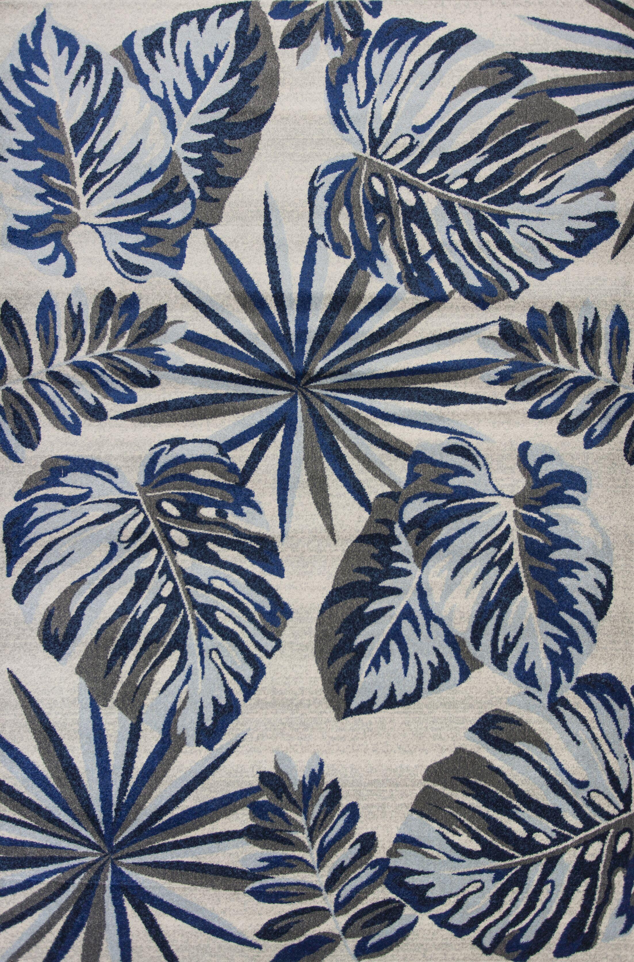 Sarasota Gray/Blue Area Rug Rug Size: 9'10