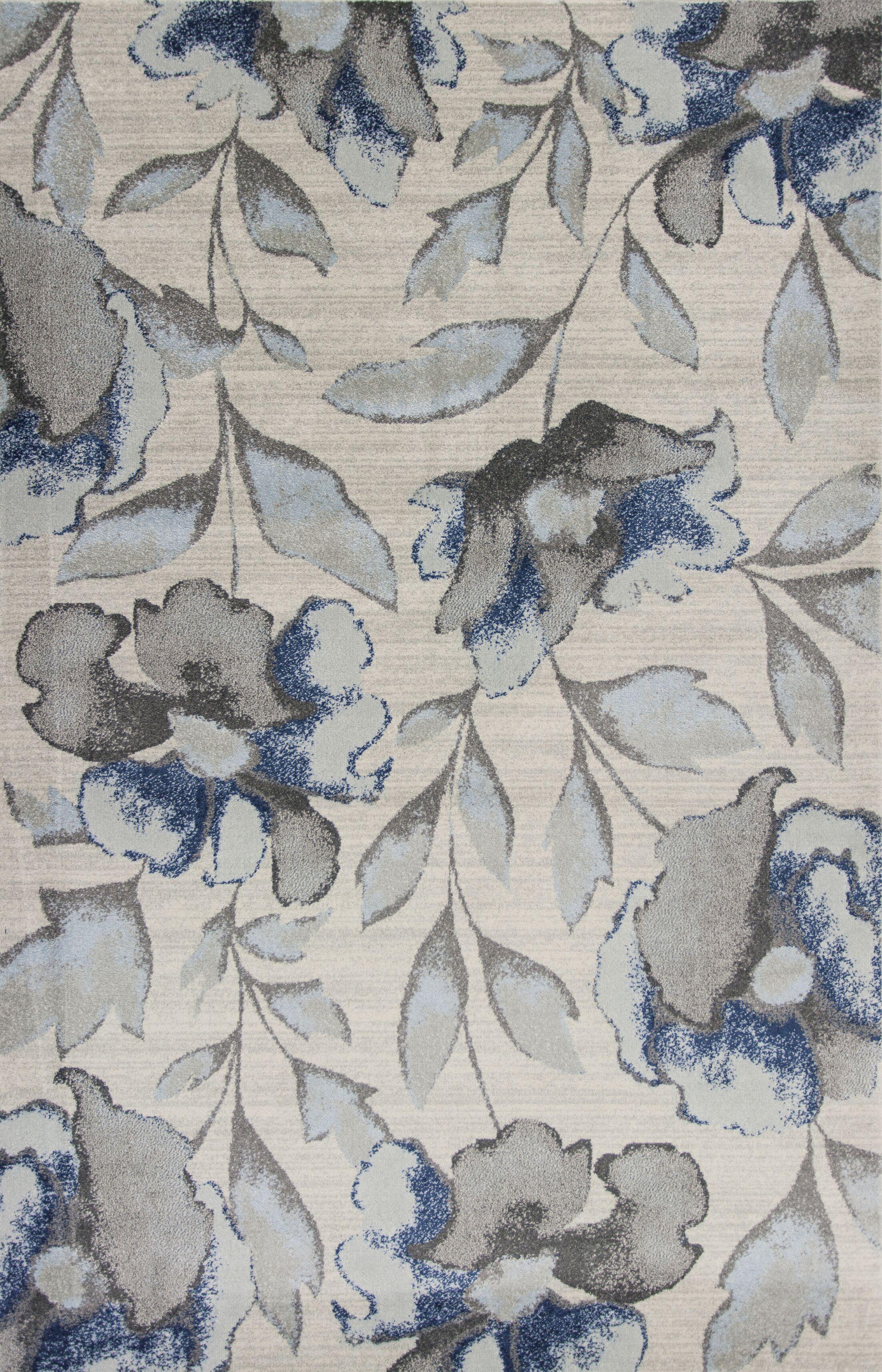 Upper Vobster Gray/Blue Area Rug Rug Size: 7'10