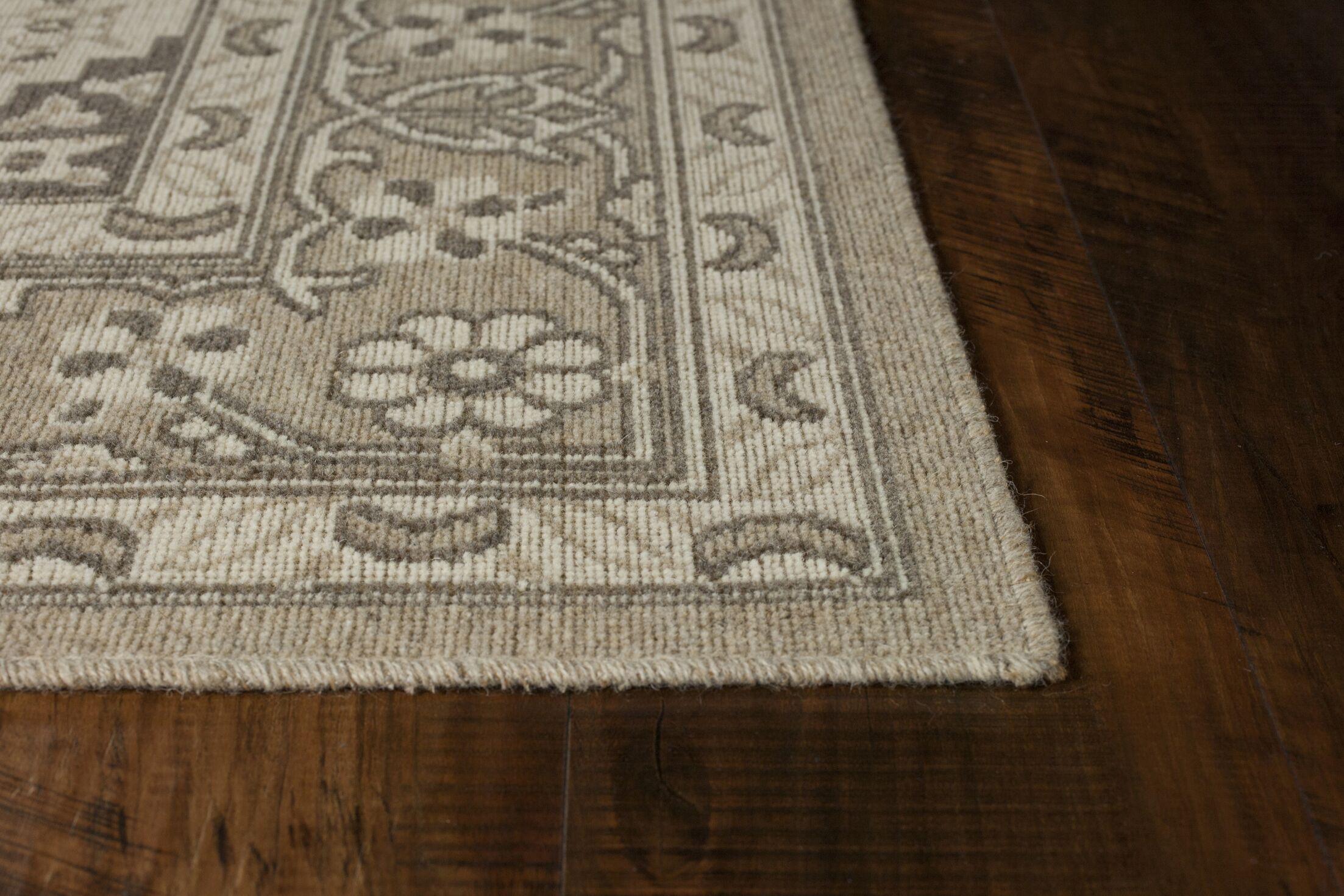 Holmes Wool Beige Area Rug Rug Size: Rectangle 9'10