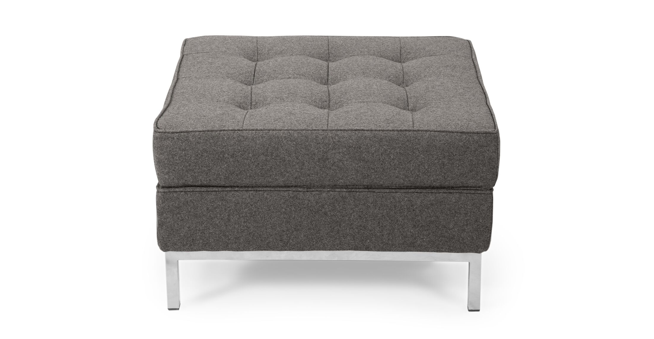 Modern Storage Ottoman Upholstery: Cadet Gray