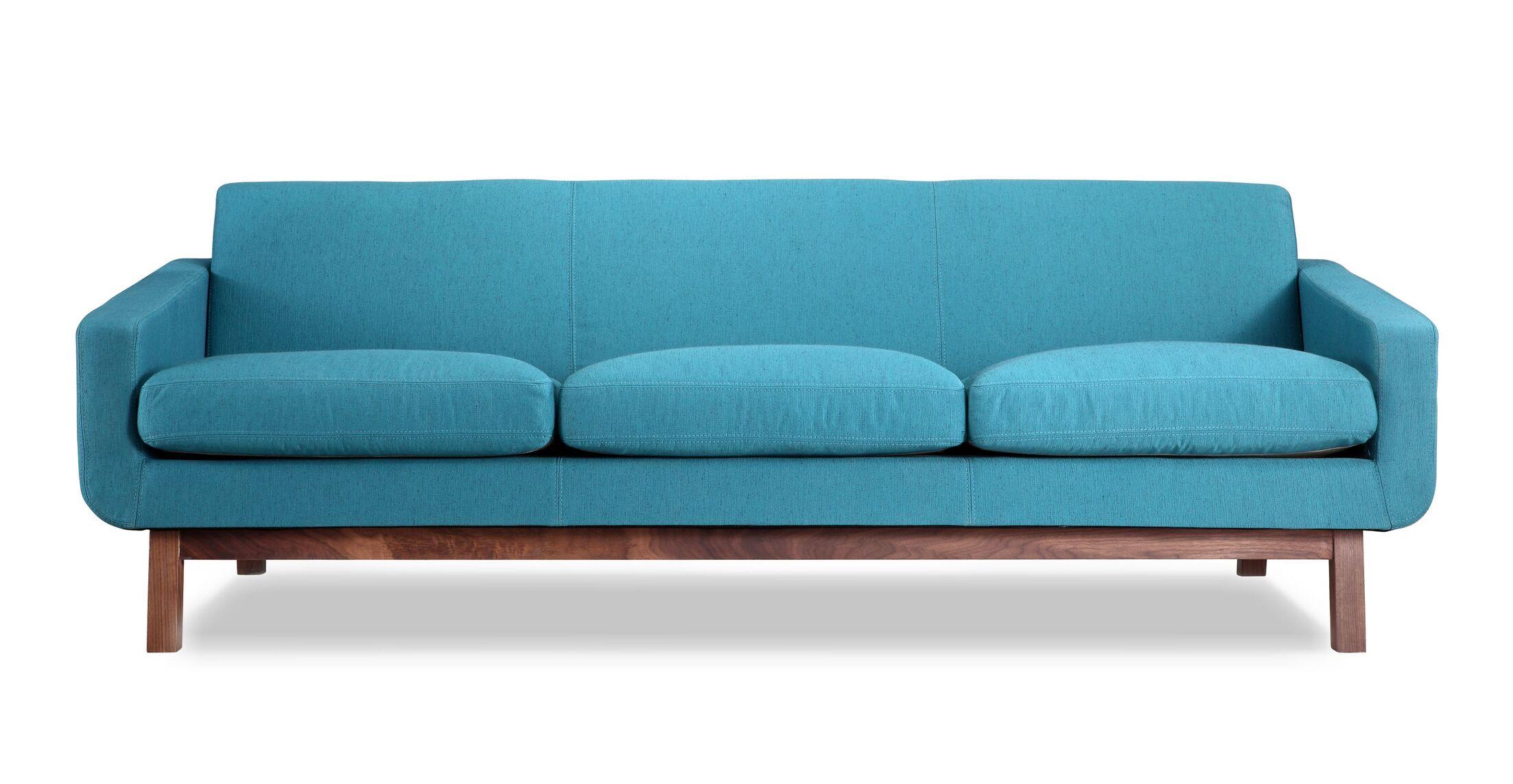 Stuart Mid Century Modern Classic Sofa Frame Finish: Walnut, Upholstery: Urban Surf