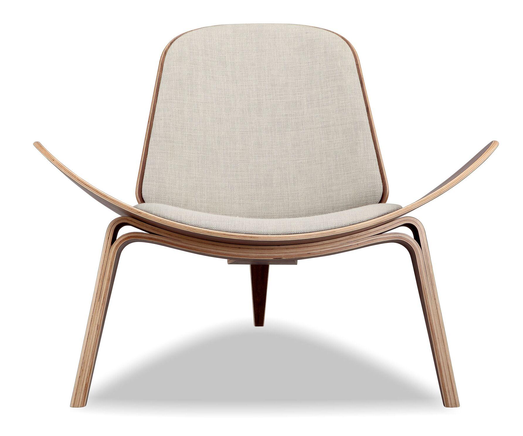 Tripod Side Chair Upholstery: Urban Hemp