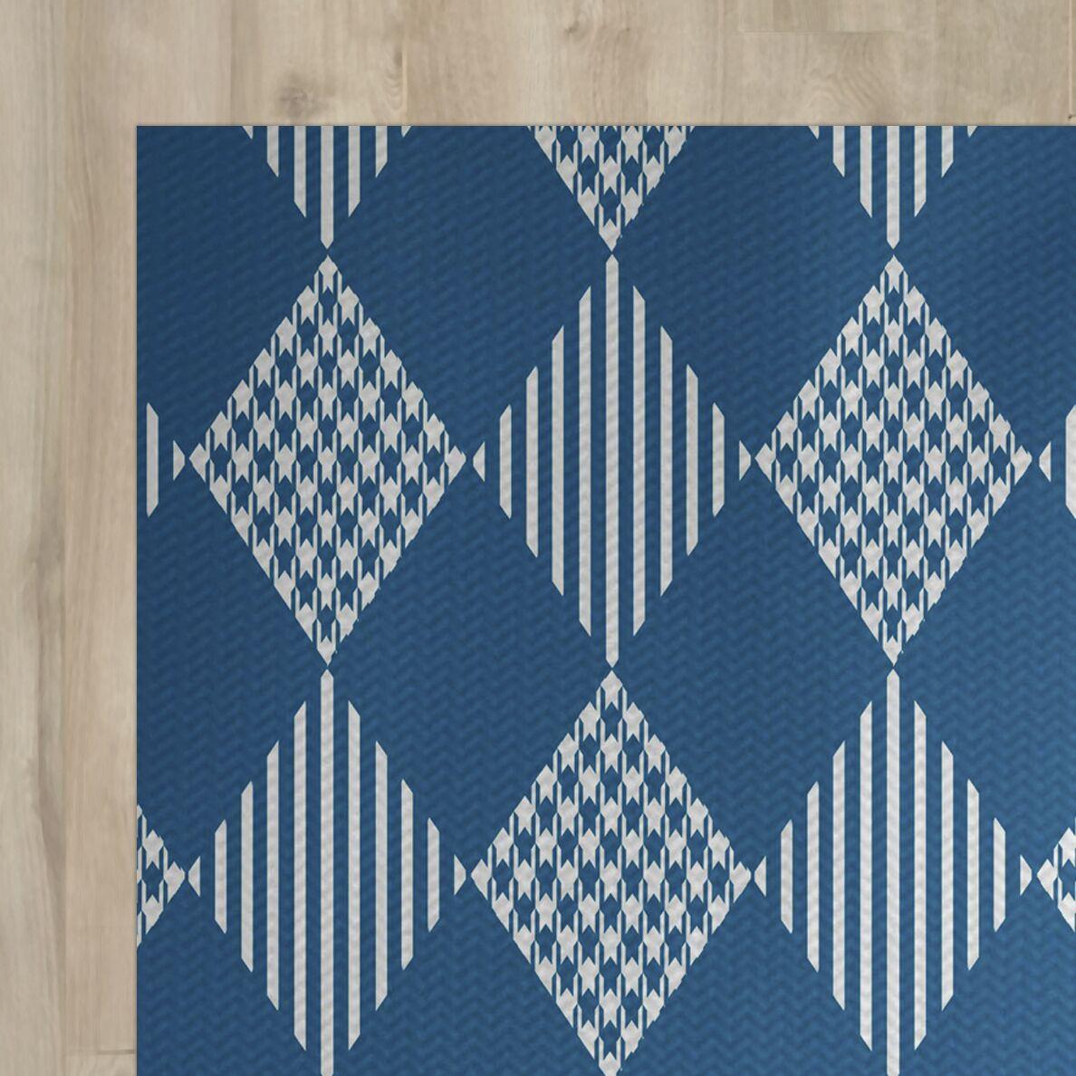 Blue Indoor/Outdoor Area Rug Rug Size: Rectangle 3' x 5'