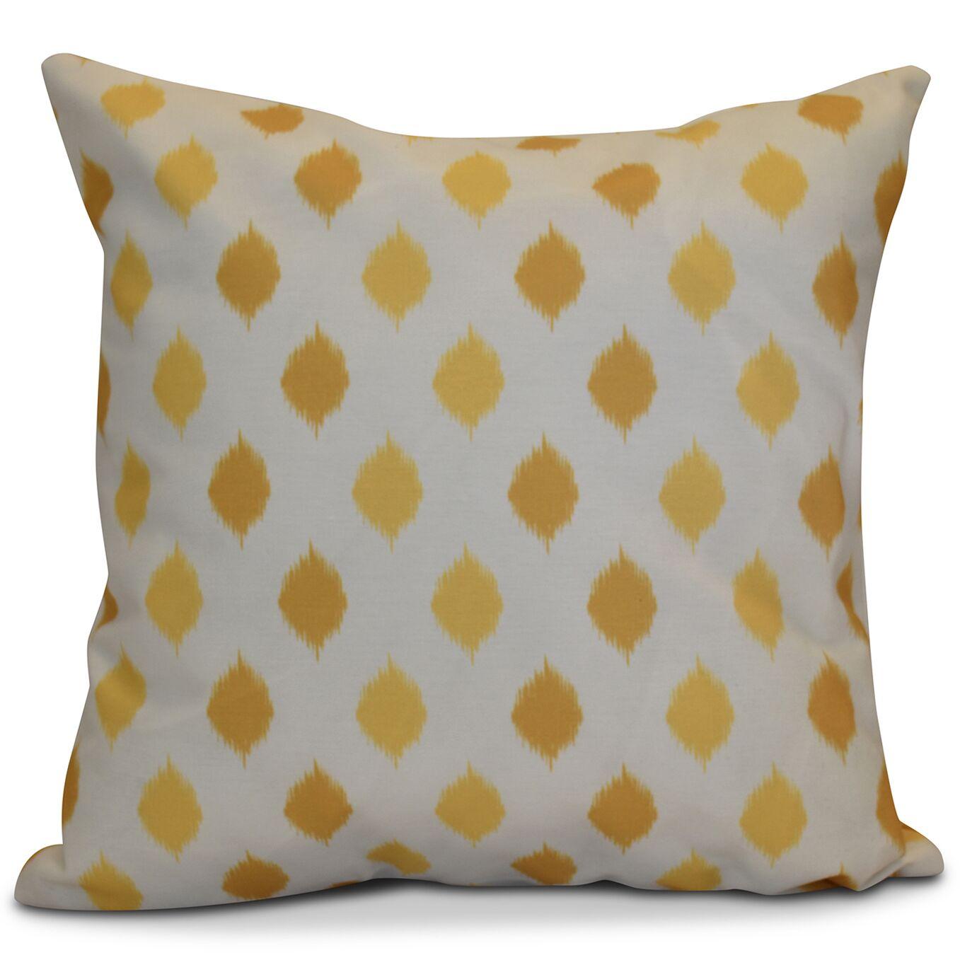 Hanukkah 2016 Decorative Holiday Geometric Outdoor Throw Pillow Size: 20