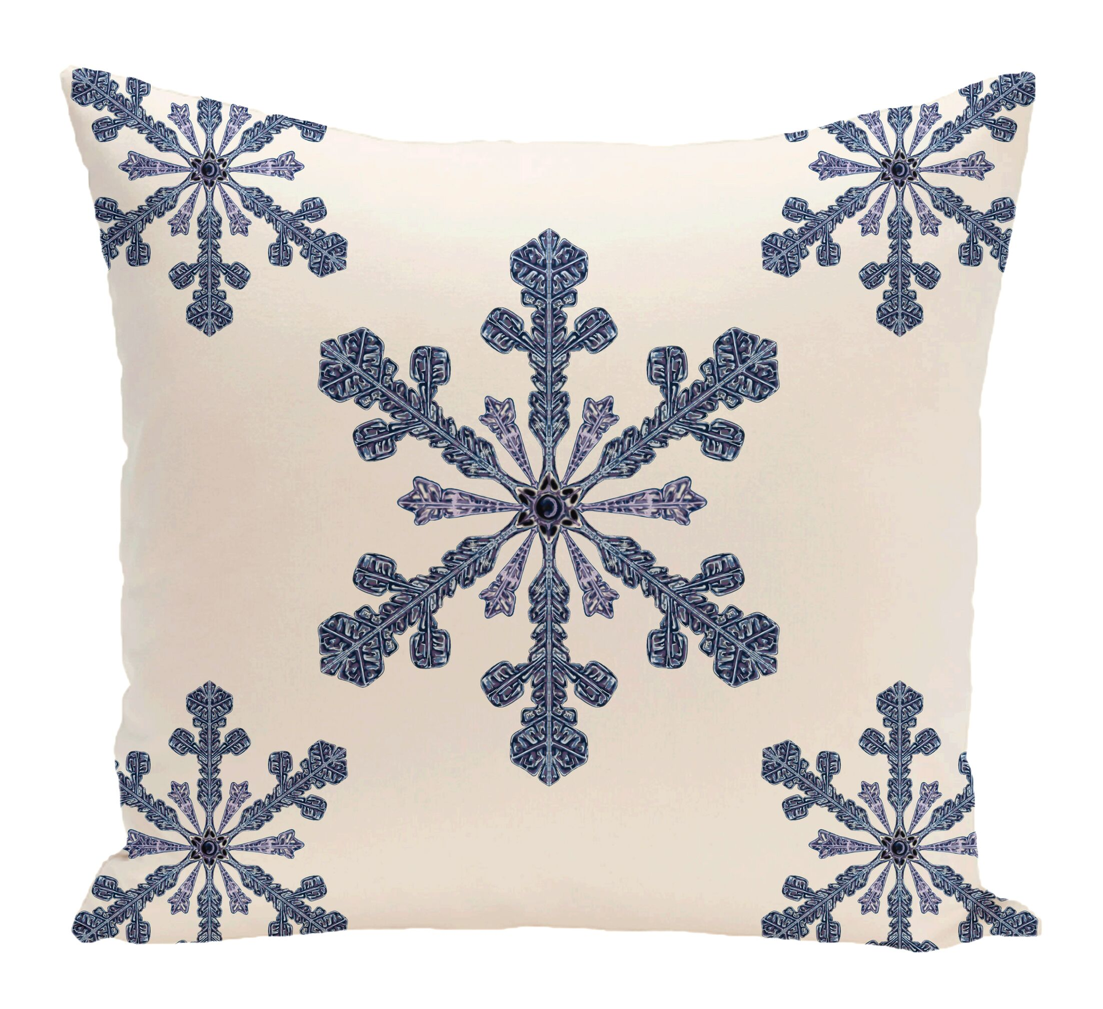 Hume Holiday Print Throw Pillow Size: 16