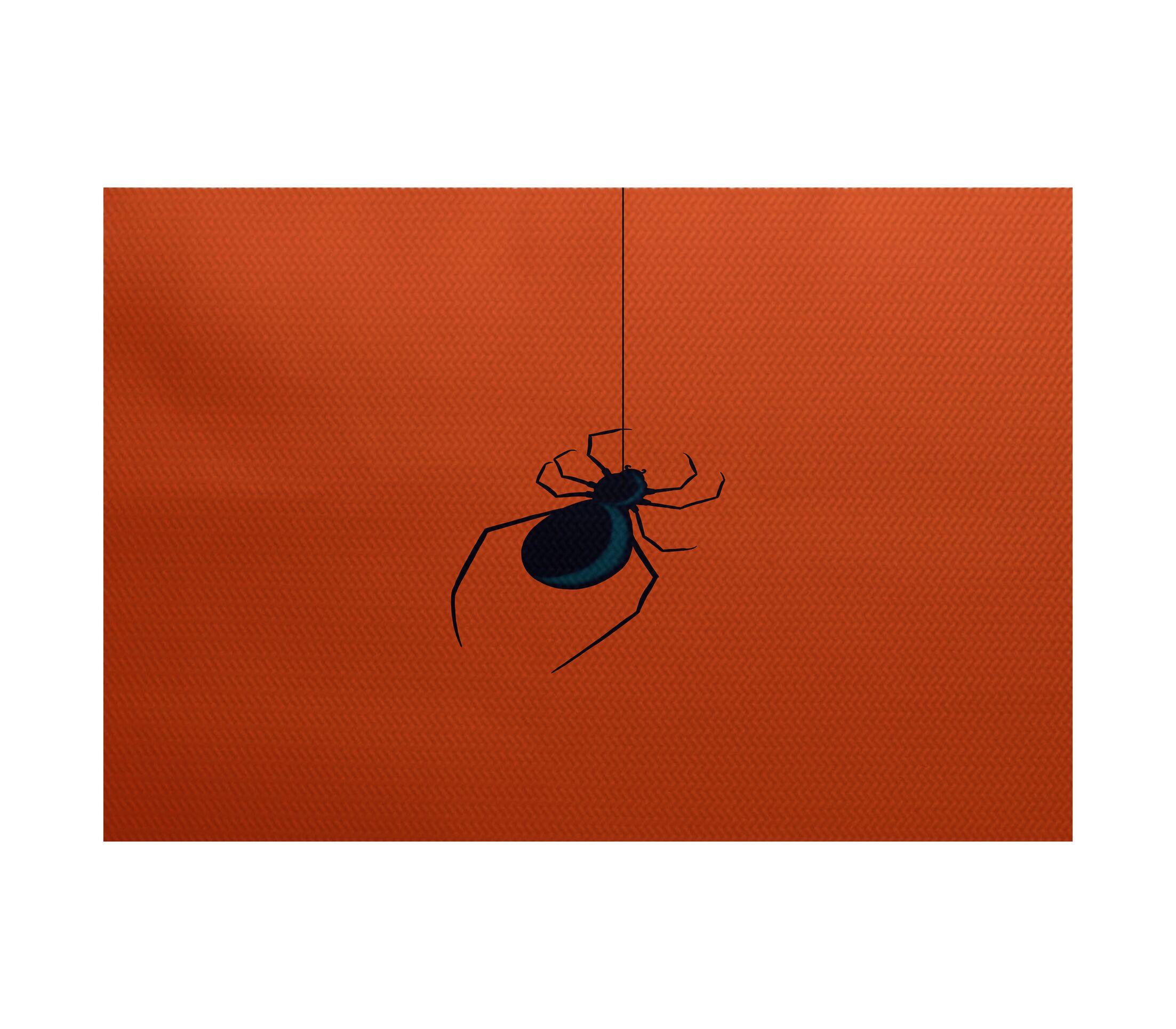 Eeek! Holiday Print Orange Indoor/Outdoor Area Rug Rug Size: Rectangle 3' x 5'
