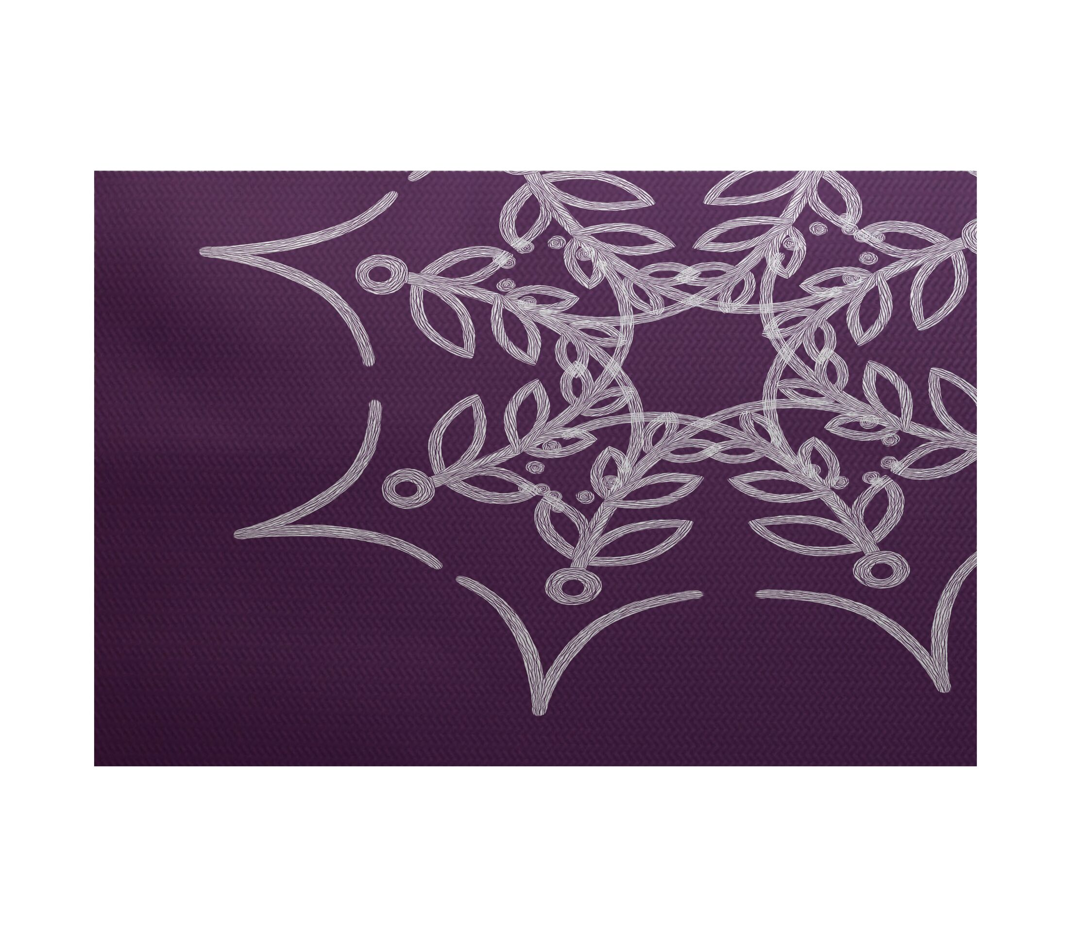 Web Art Holiday Print Purple Outdoor Indoor/Outdoor Area Rug Rug Size: Rectangle 3' x 5'