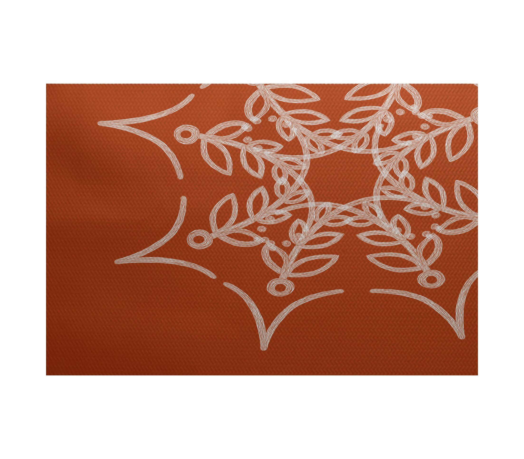 Web Art Holiday Print Orange Outdoor Indoor/Outdoor Area Rug Rug Size: Rectangle 3' x 5'