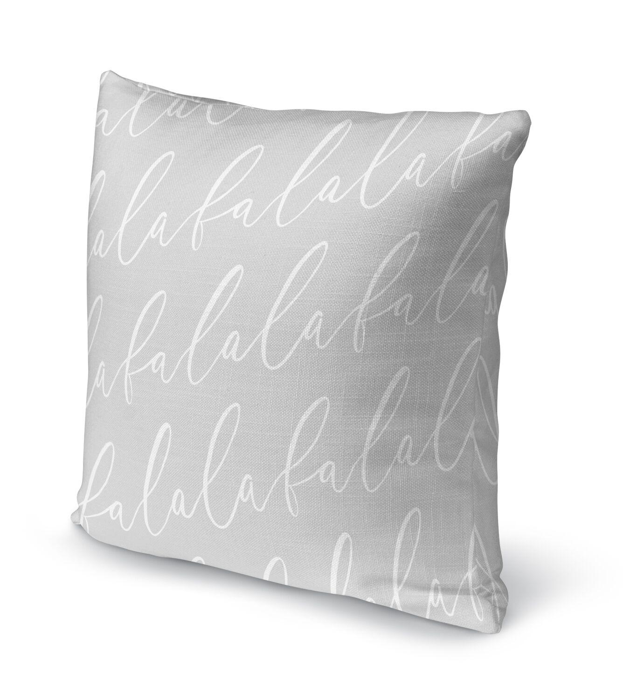 Falala Outdoor Throw Pillow Size: 16
