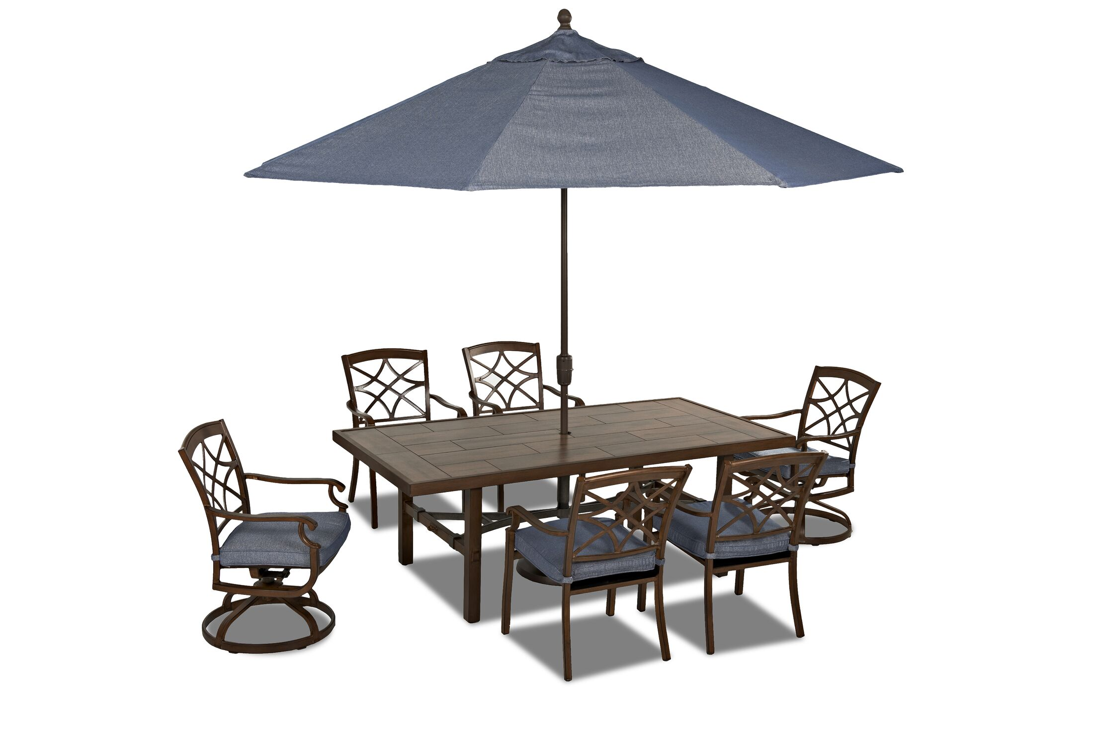 Outdoor 7 Piece Dining Set with Cushions