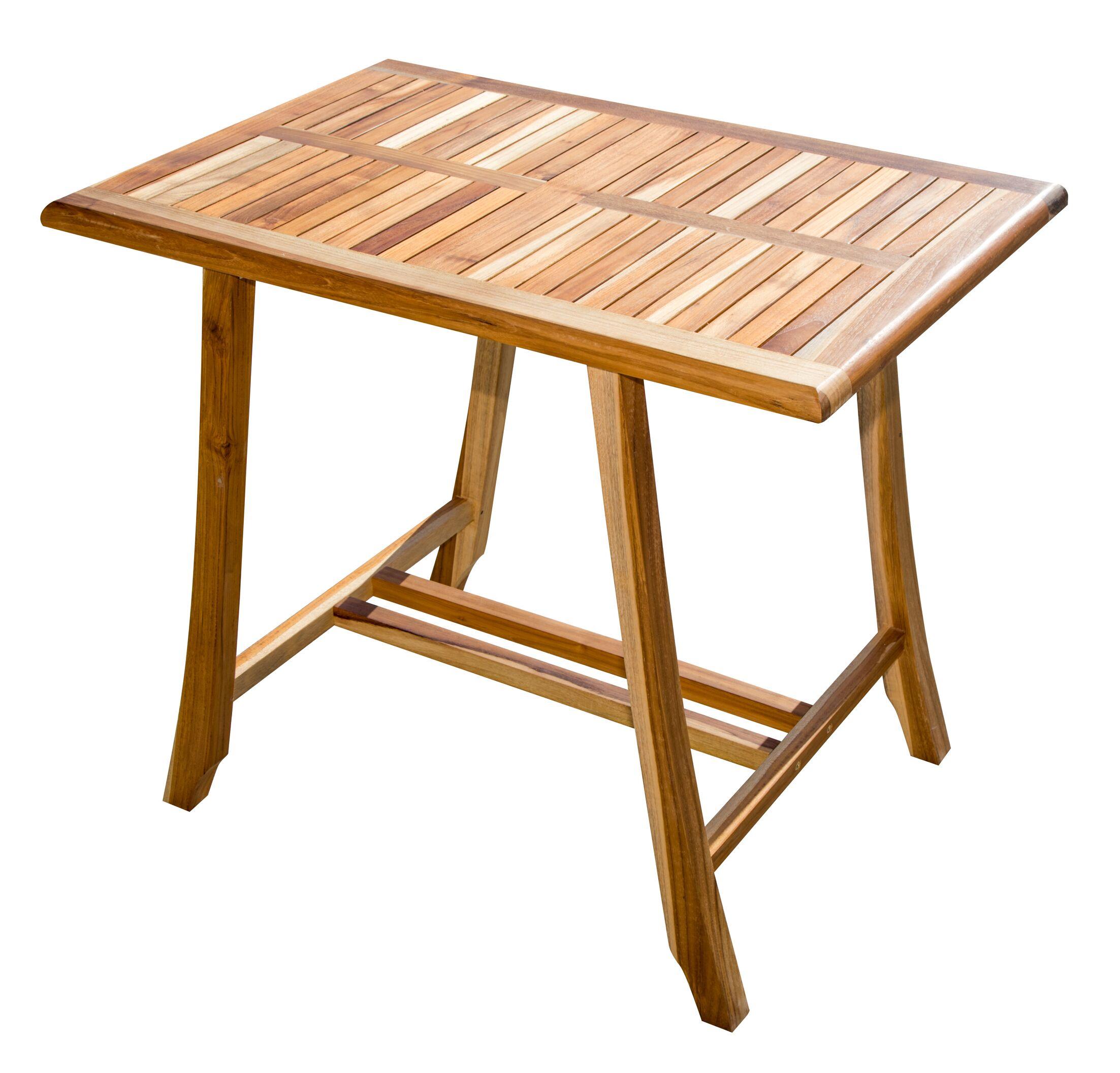 Satori Bistro Teak Dining Table Table Height: 40
