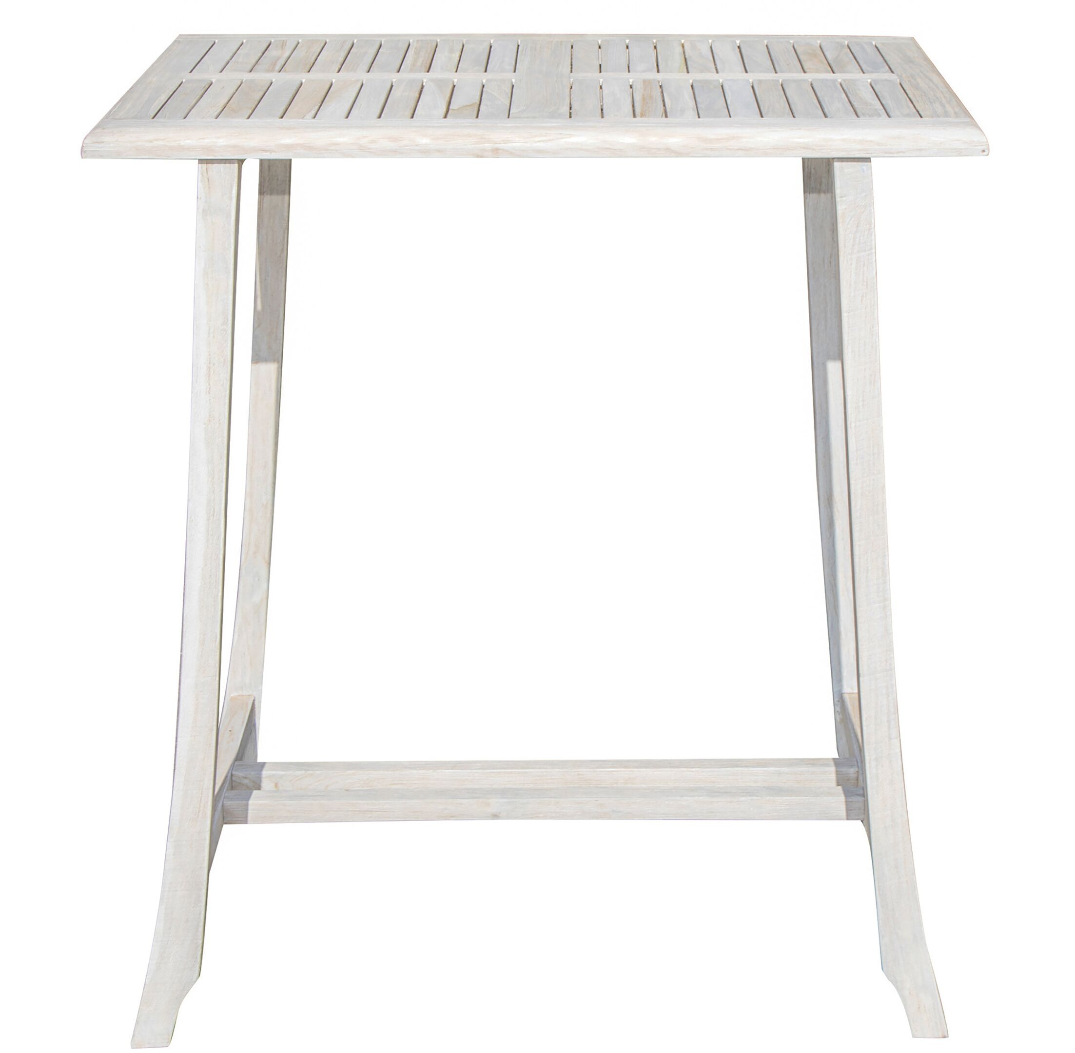 Satori Bistro Teak Dining Table Table Height: 34