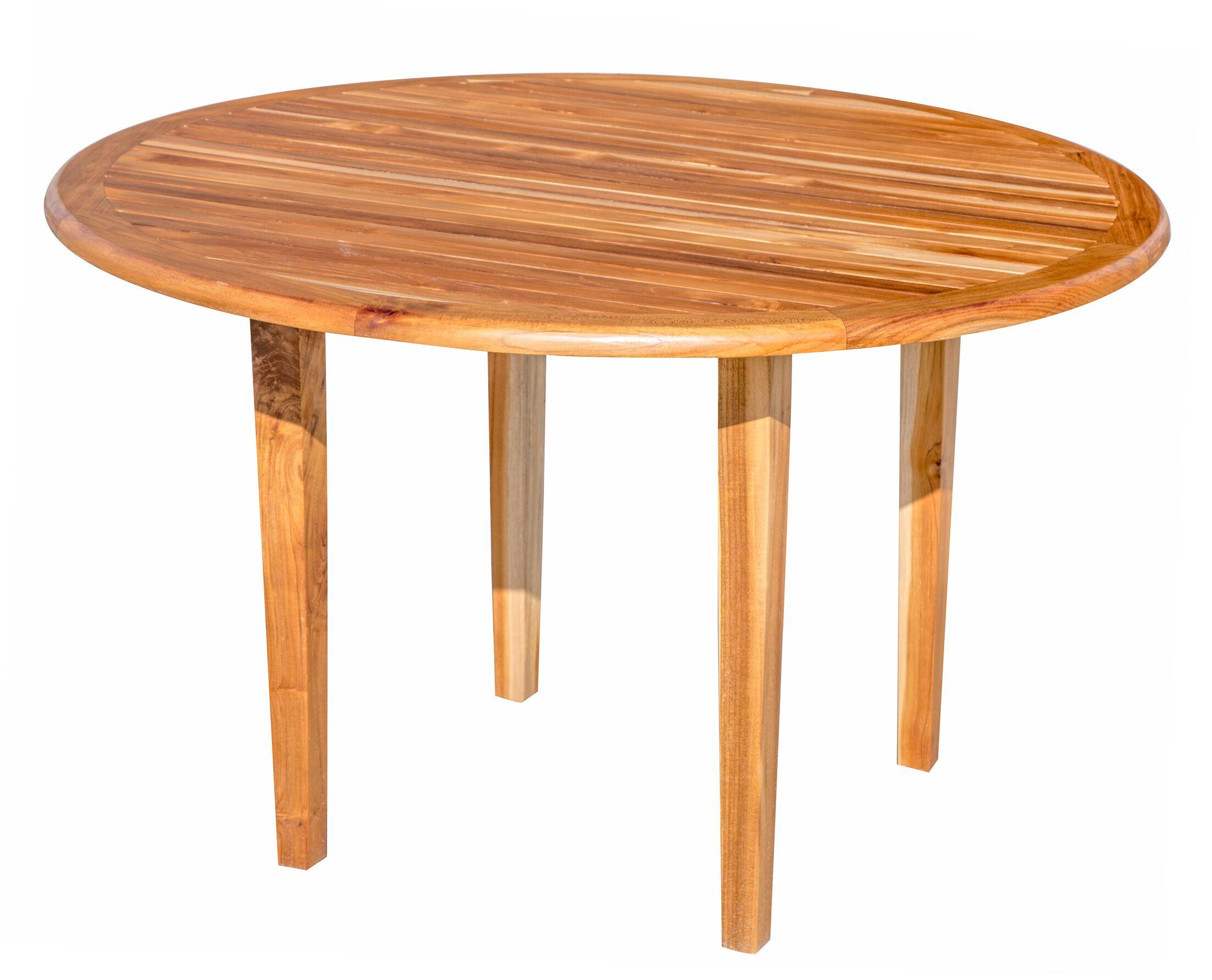 Oasis Teak Dining Table Table Height: 48