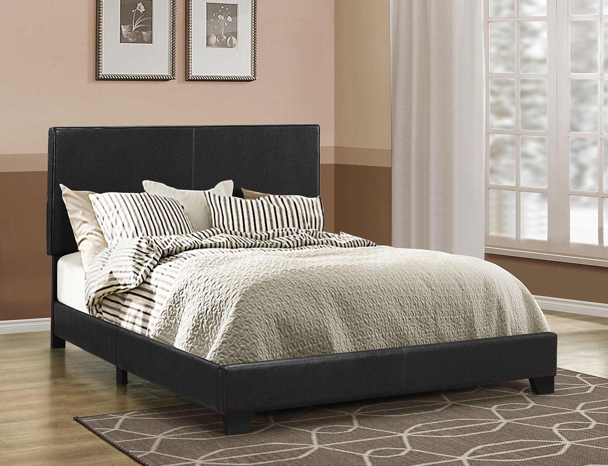 Fenagh Upholstered Panel Bed Size: Full, Color: Black