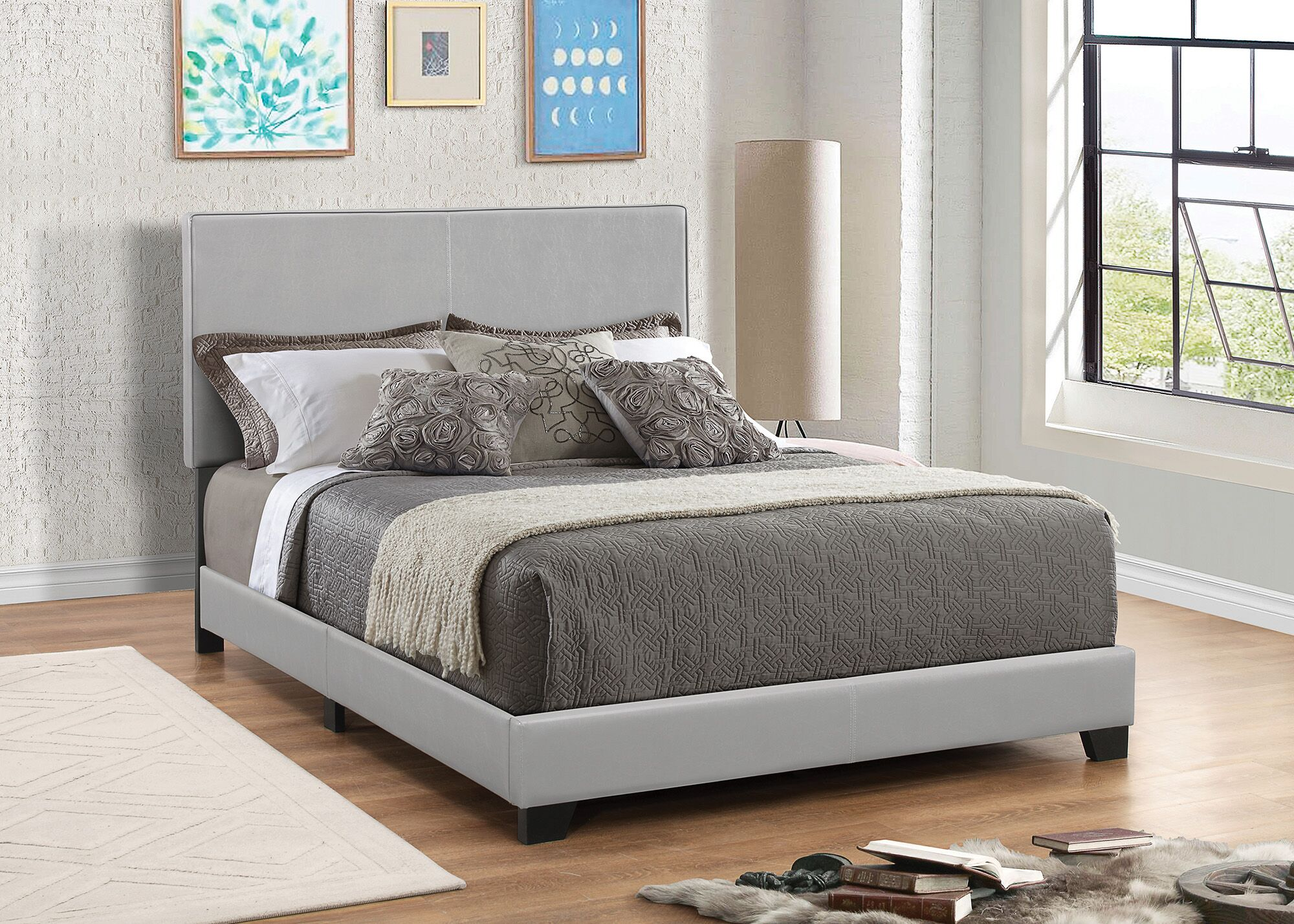 Fenagh Upholstered Panel Bed Size: Eastern King, Color: Gray