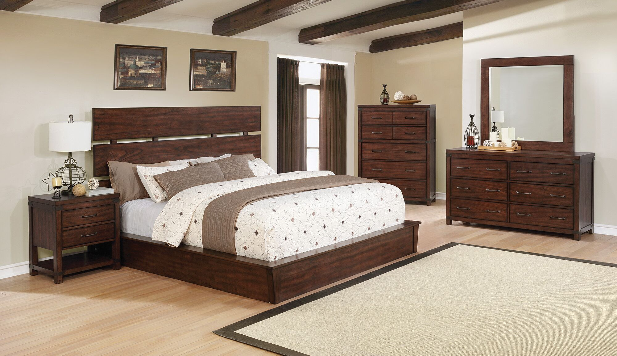 Reichel Storage Panel Bed Size: Eastern King