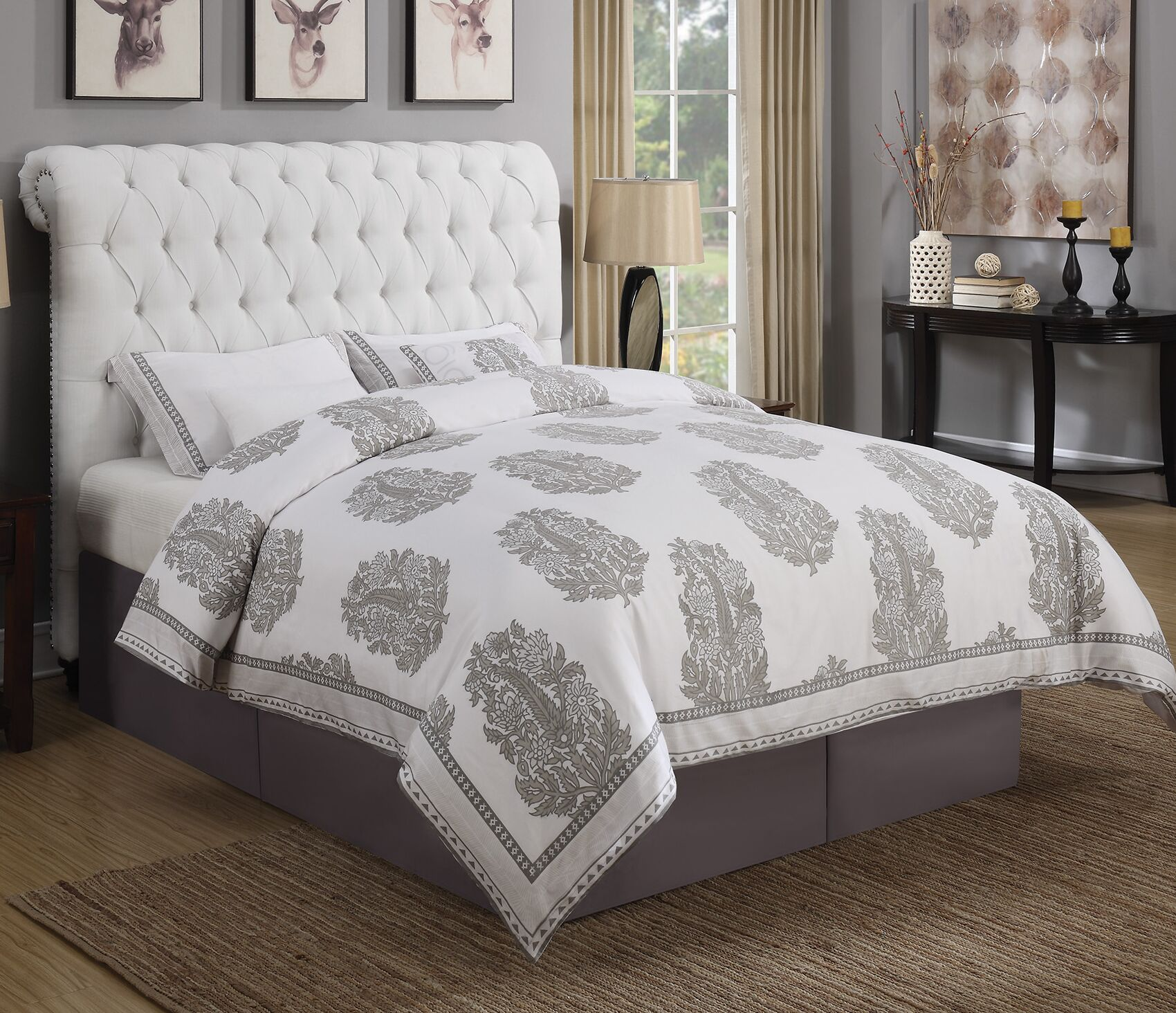 Jarratt Upholstered Panel Bed Size: Full, Color: Beige