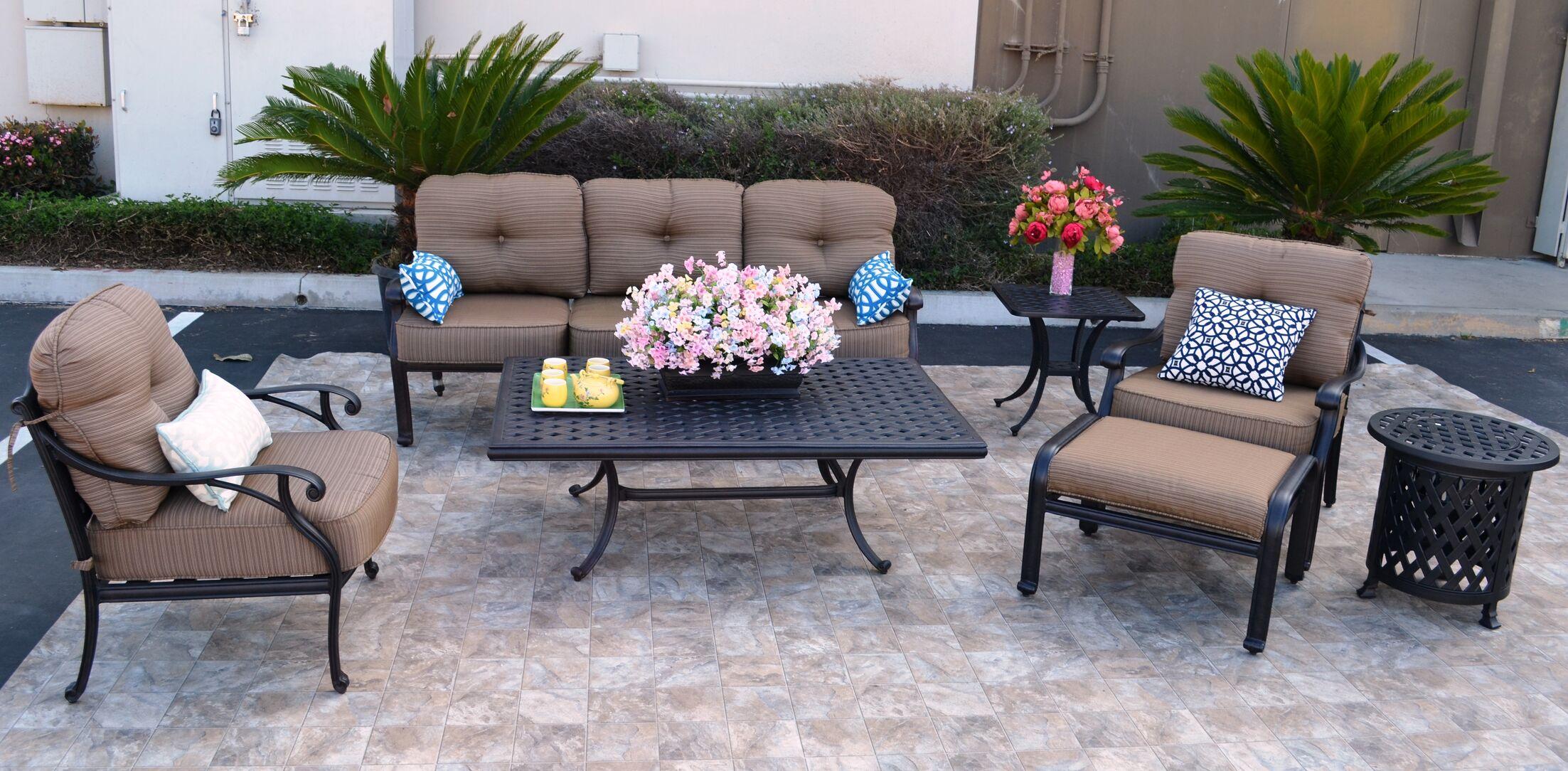 Nola 7 Piece Sofa Set with Cushions