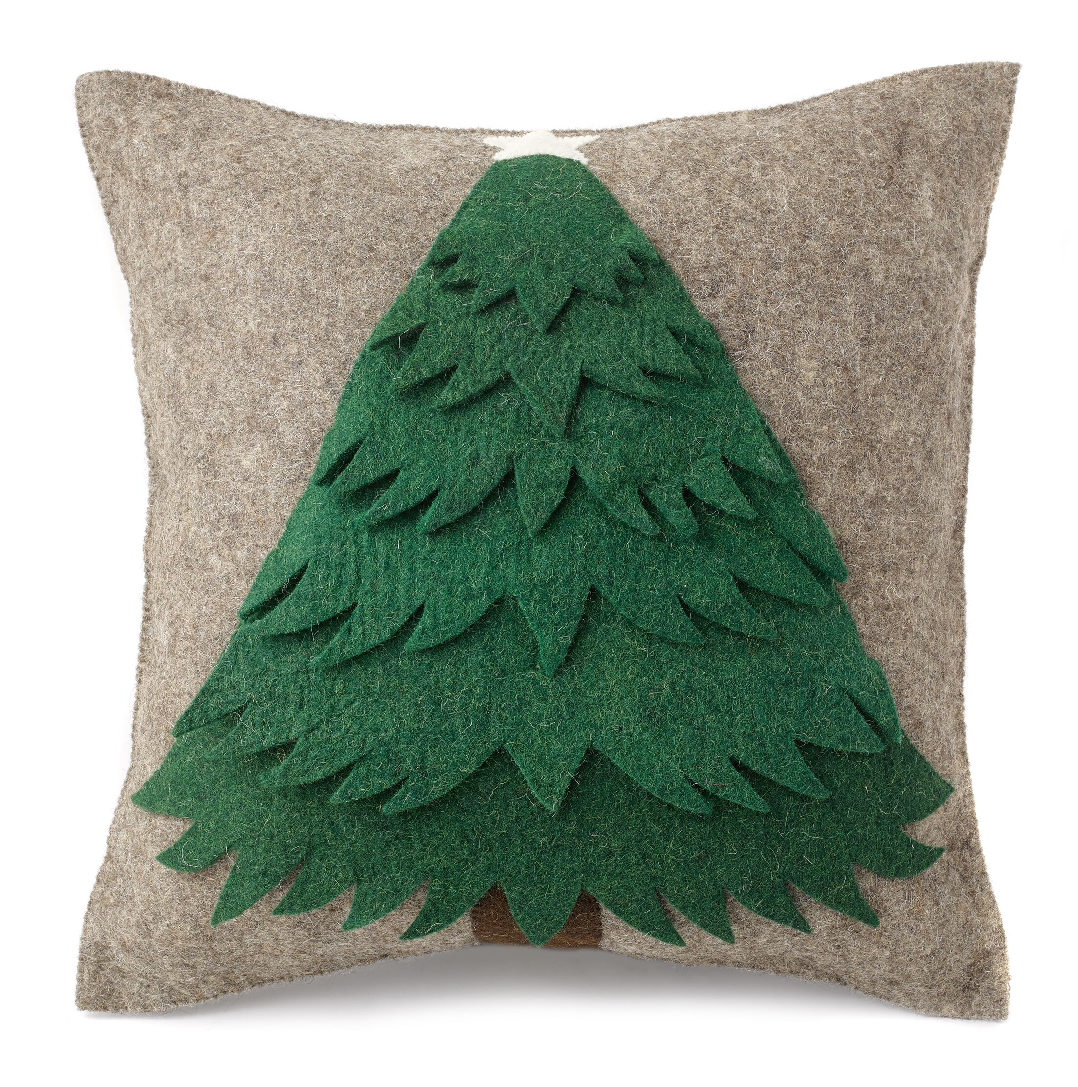 Tree Hand Felted Wool Pillow Cover