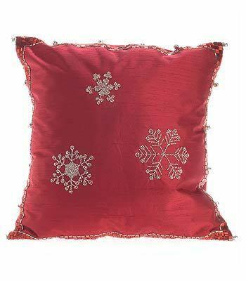 Snowflakes Silk Throw Pillow Cover Size: 20