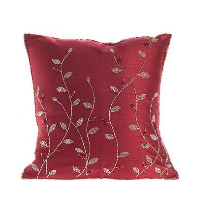 Silk Throw Pillow Cover Size: 16