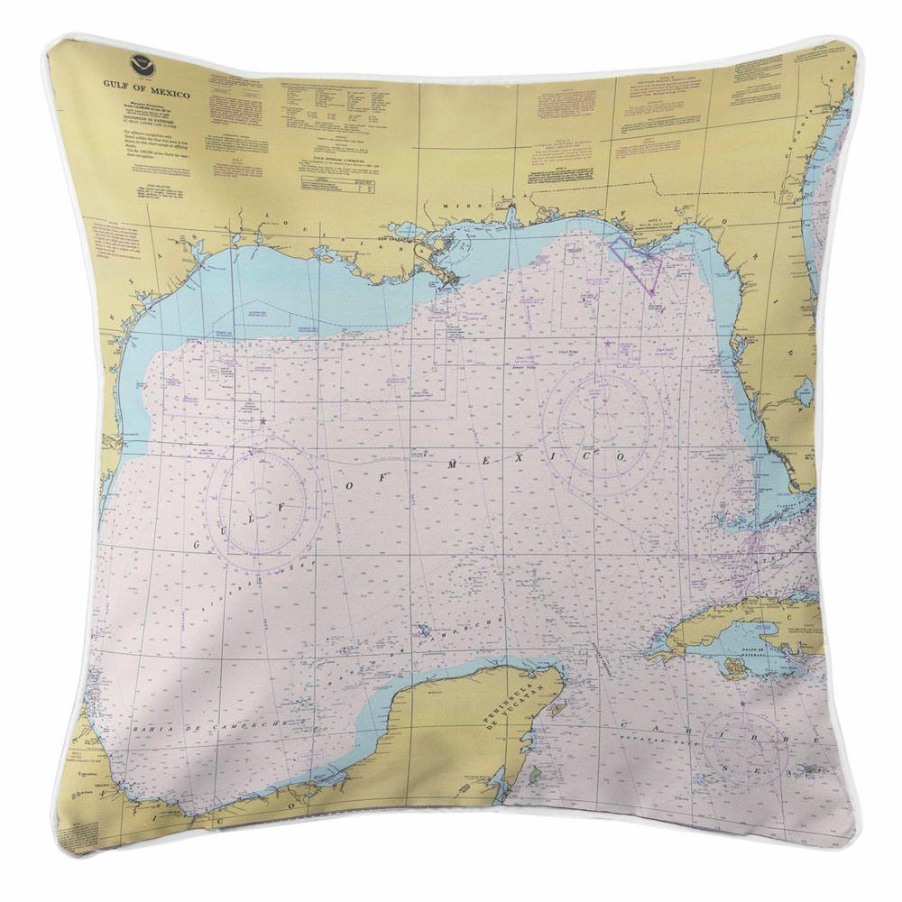 Ellisburg Gulf of Mexico Throw Pillow