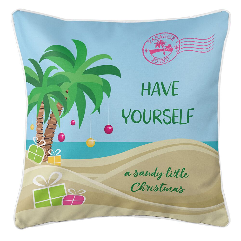 Have Yourself a Sandy Little Christmas Throw Pillow