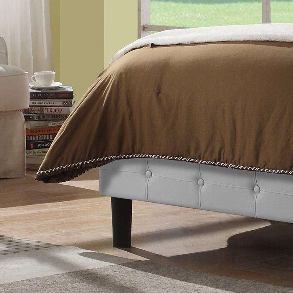 Hanke Upholstered Platform Bed Color: Dark Espresso, Size: Full/Double