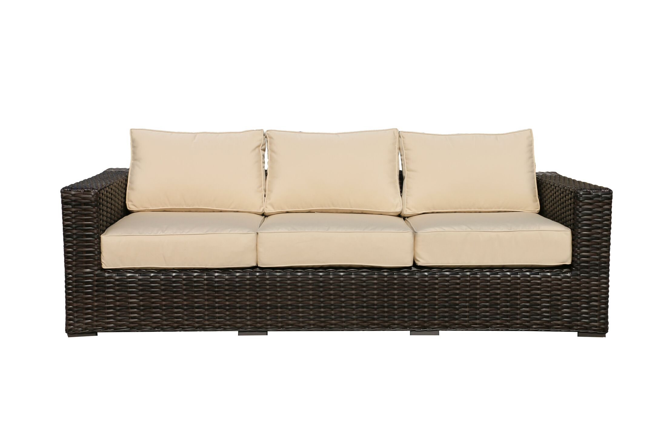 Santa Monica Sofa with Cushions Fabric: Canvas