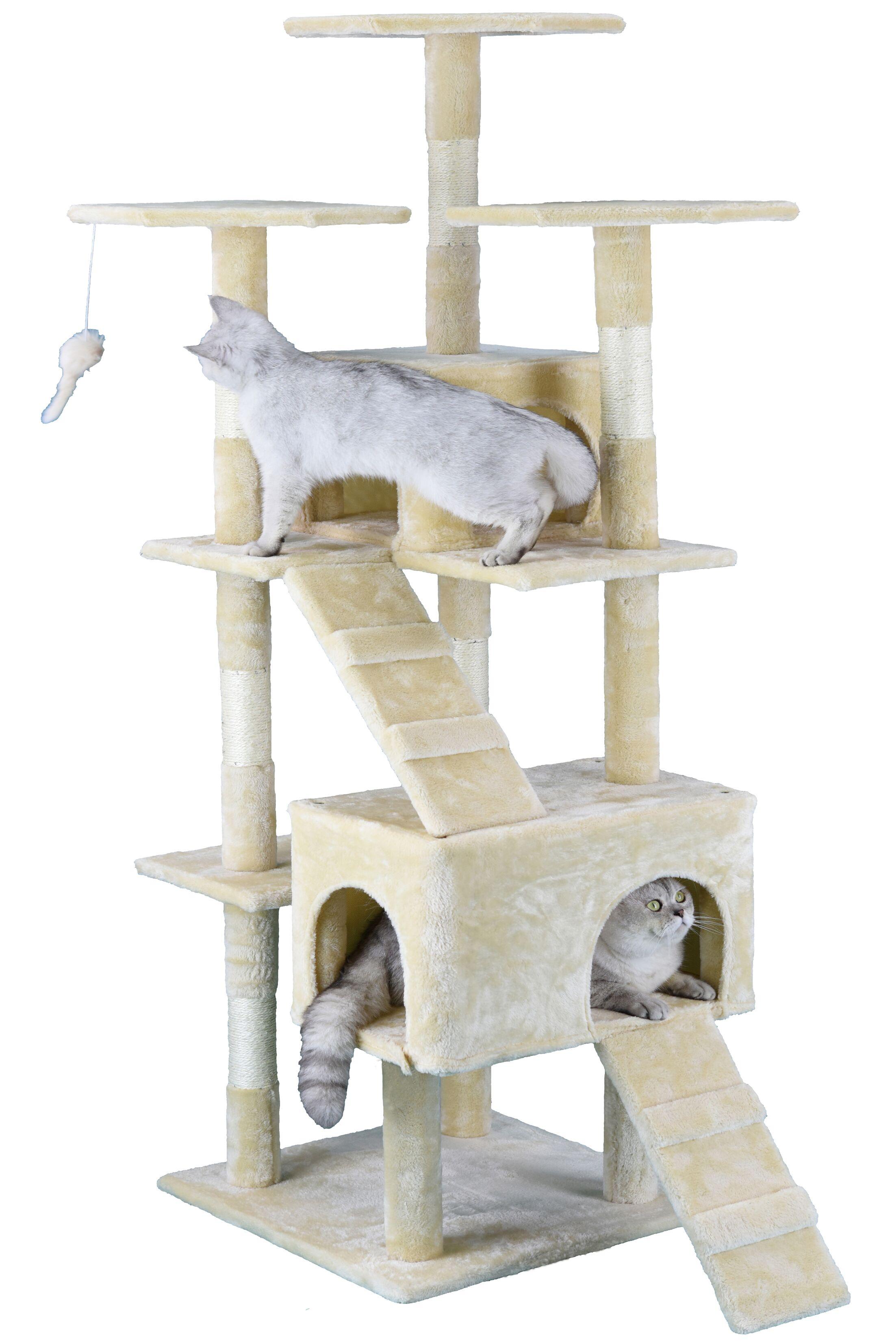 Light Weight Economical Cat Tree Color: Beige