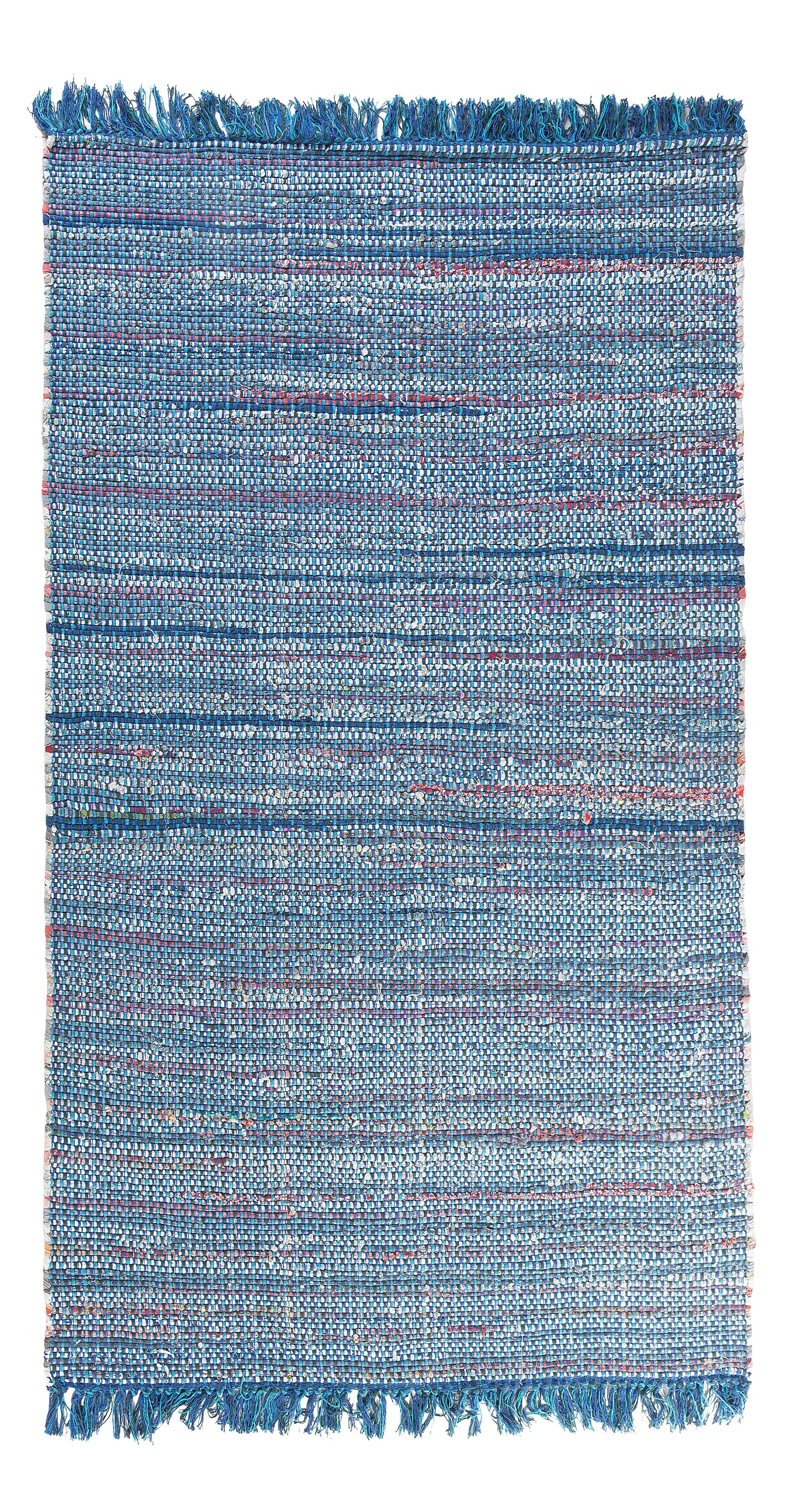 Besni Handwoven Blue Area Rug Size: 5'2