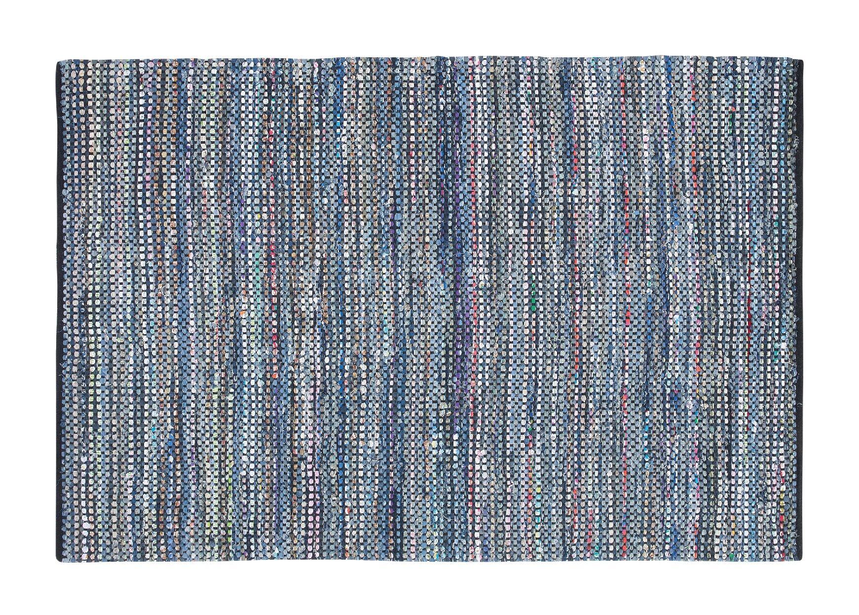 Alanya Hand-Woven Blue Area Rug Rug Size: 5'2