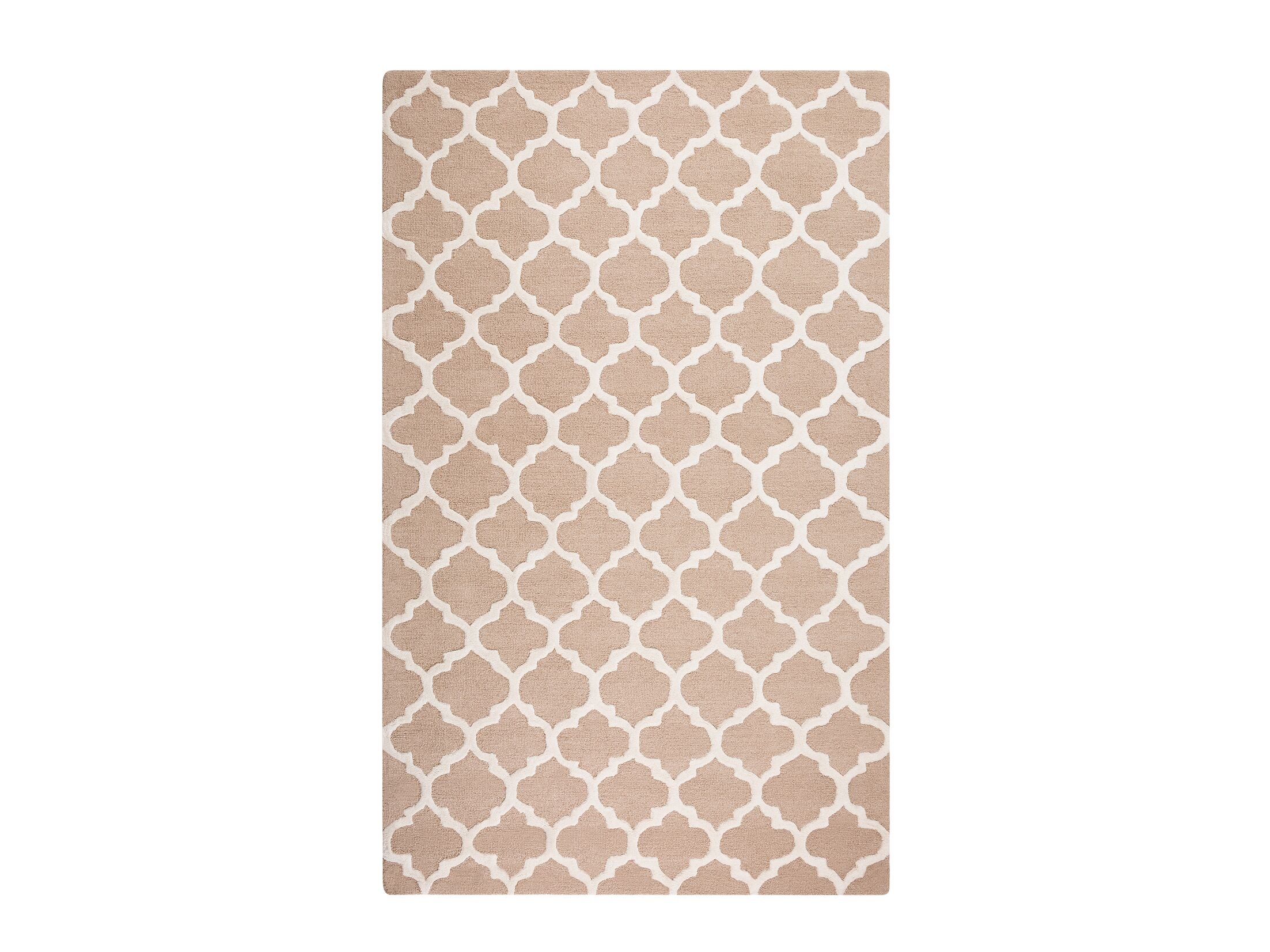 Erbaa Hand-Tufted Beige Area Rug Rug Size: Rectangle 5'2