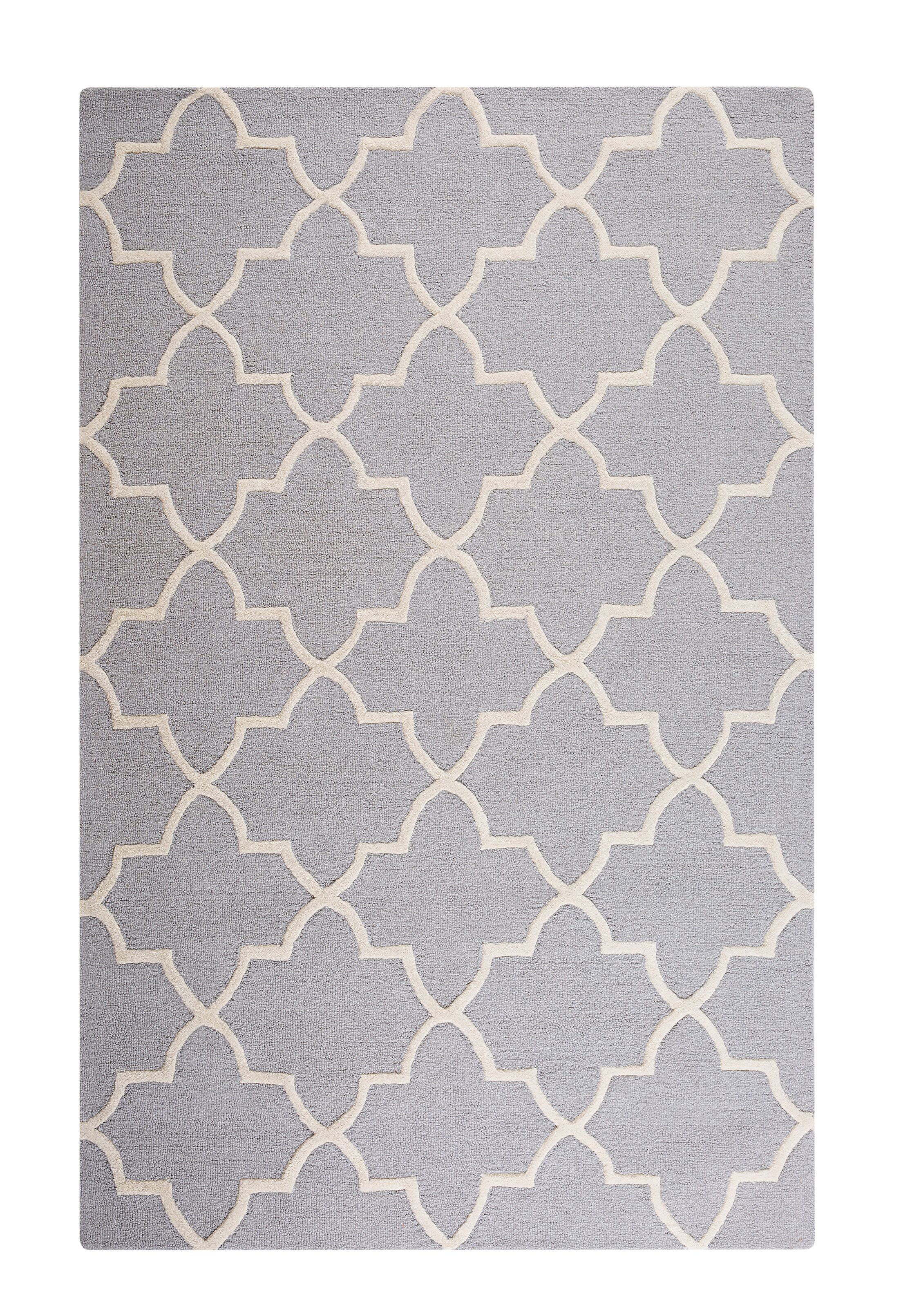 Silvan Hand-Tufted Gray Area Rug Rug Size: Rectangle 5'3