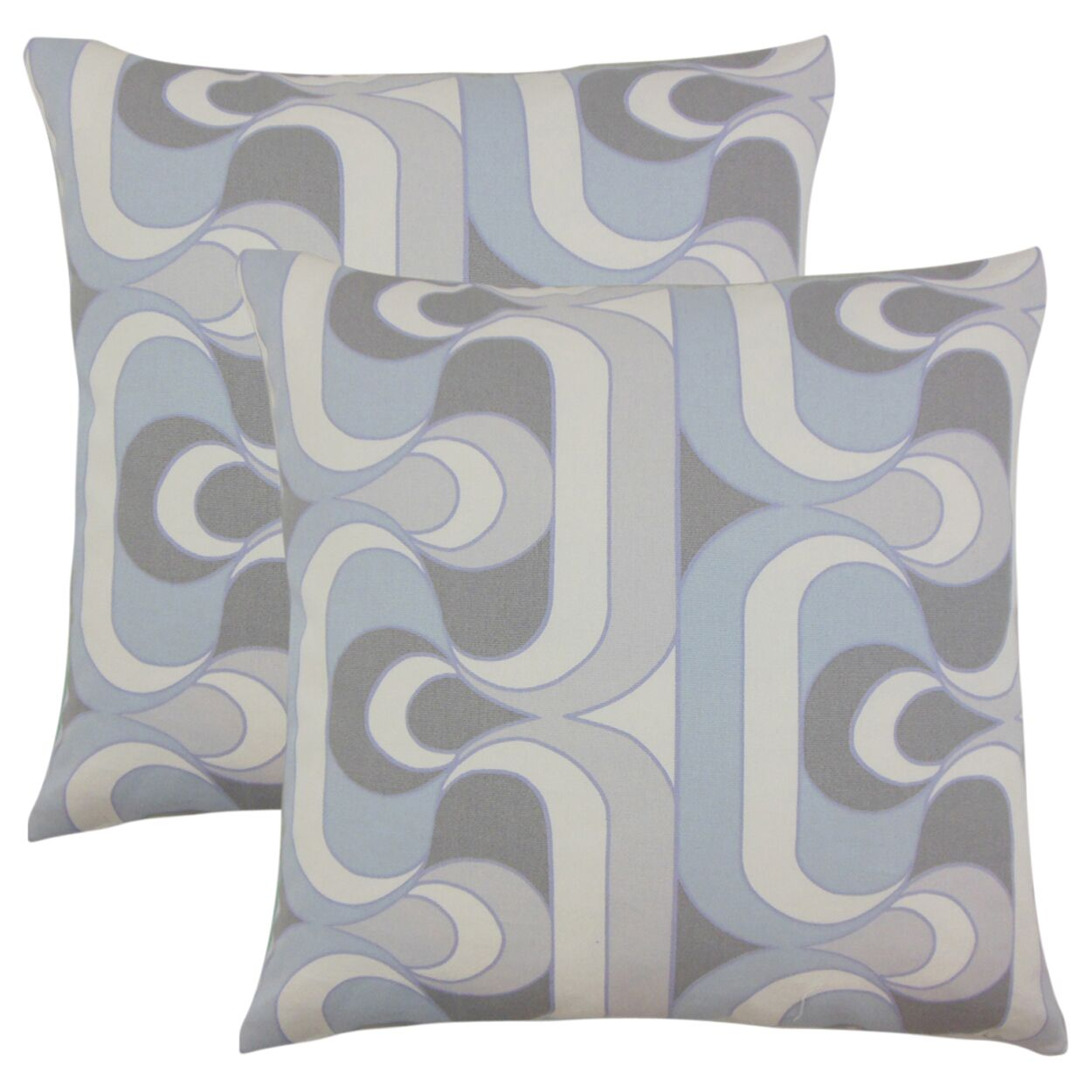 Wolfram Geometric Cotton Throw Pillow Color: Pewter