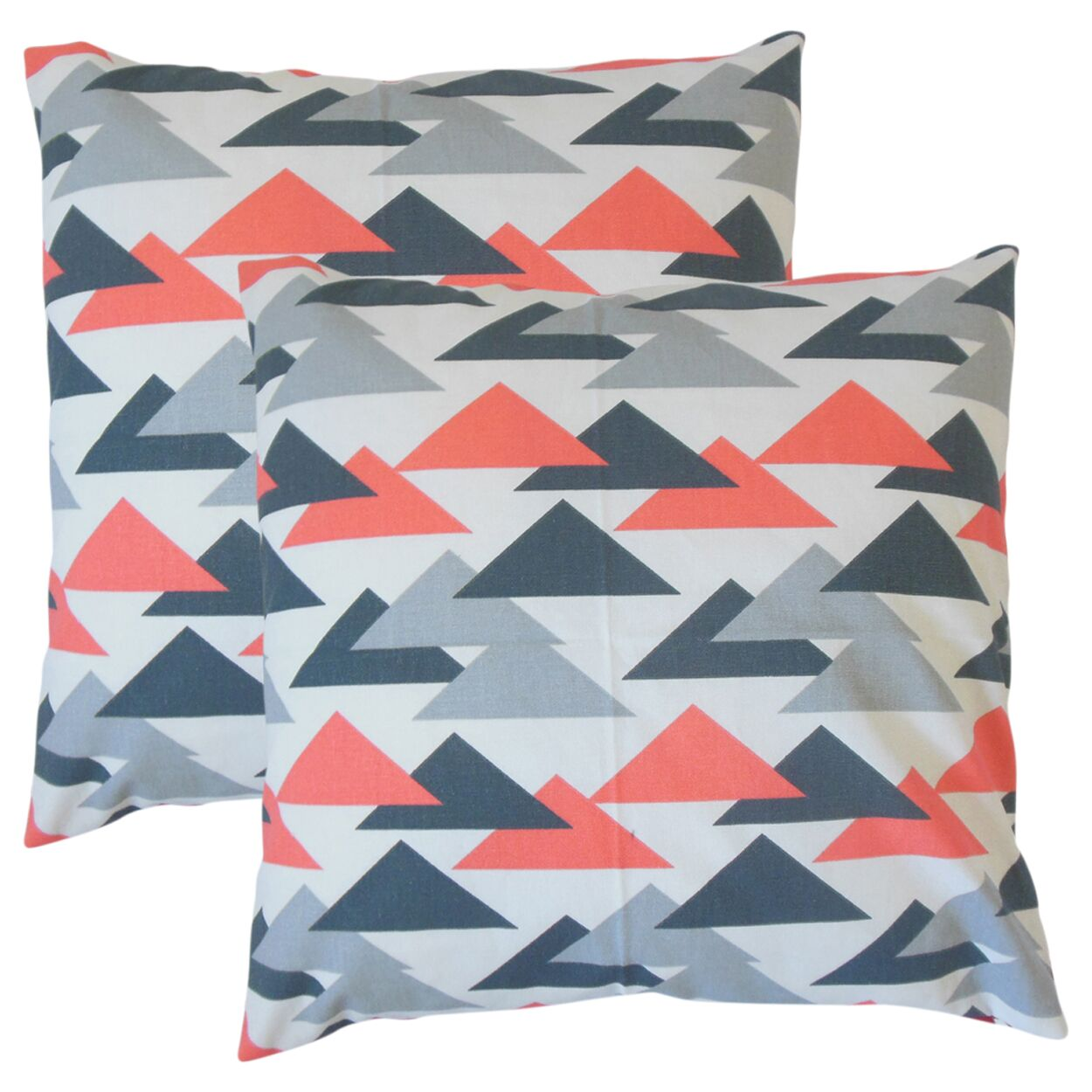 Winkleman Geometric Cotton Throw Pillow Color: Pink